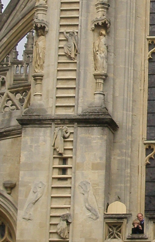 Detail--Jacobs Ladder, Bath Abbey