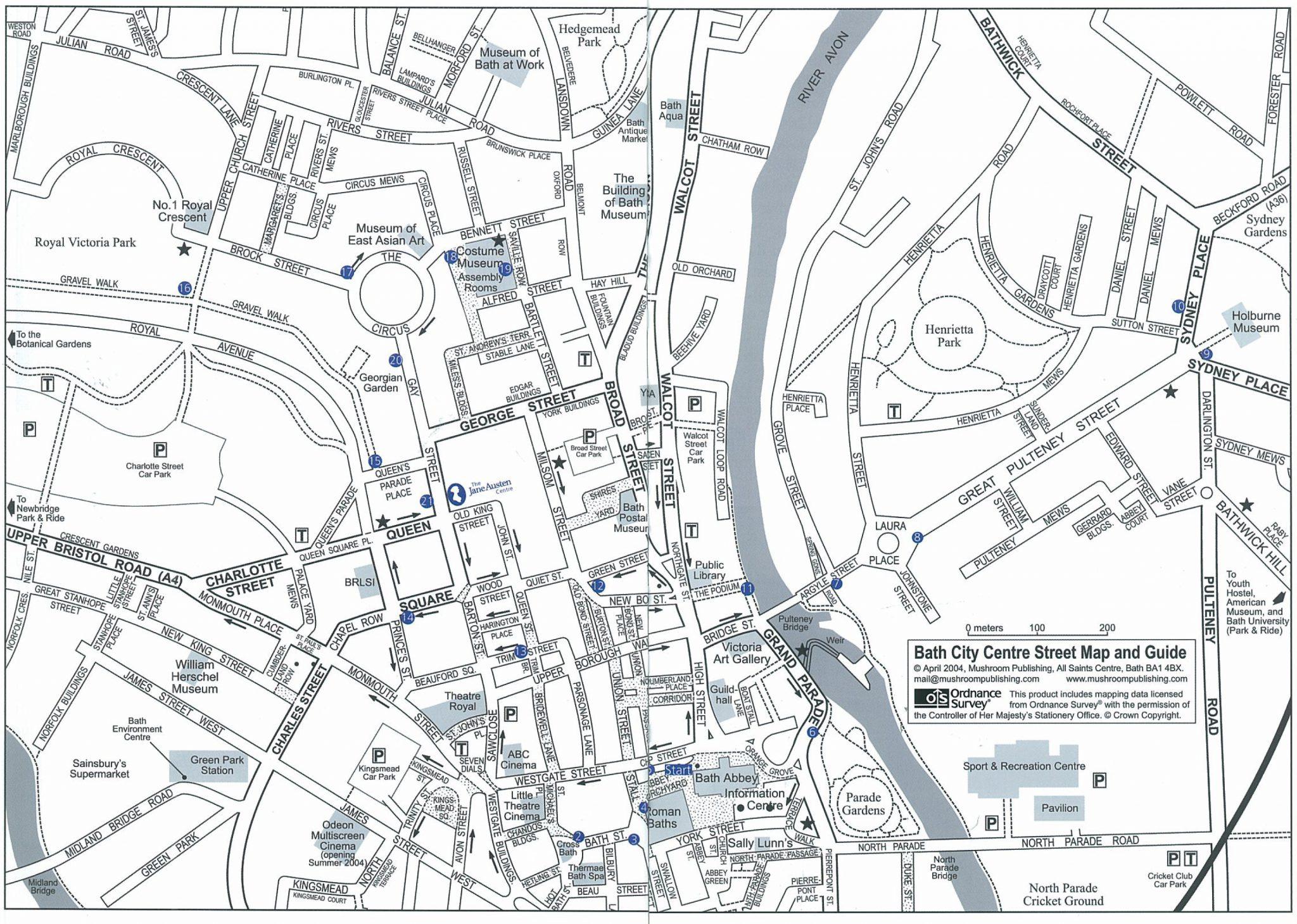 The Historic Center of Bath, England