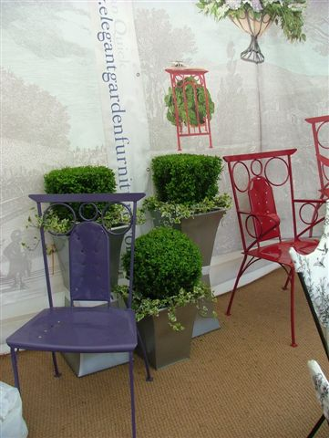 Lorenzo Chairs in our Chelsea Flower Show Exhibit. AG