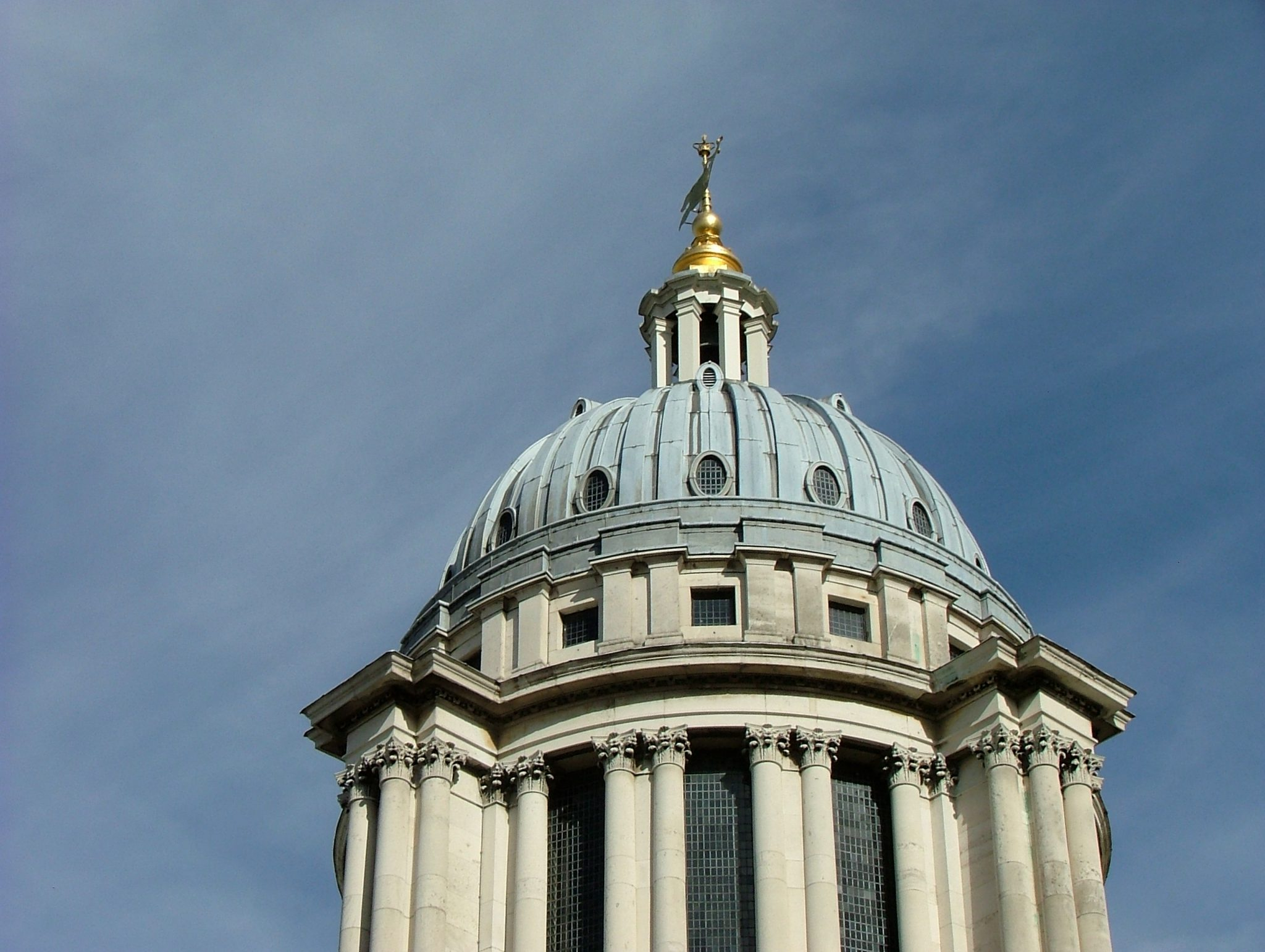 Christopher Wren's glorious dome capping Queen Mary Court. AG