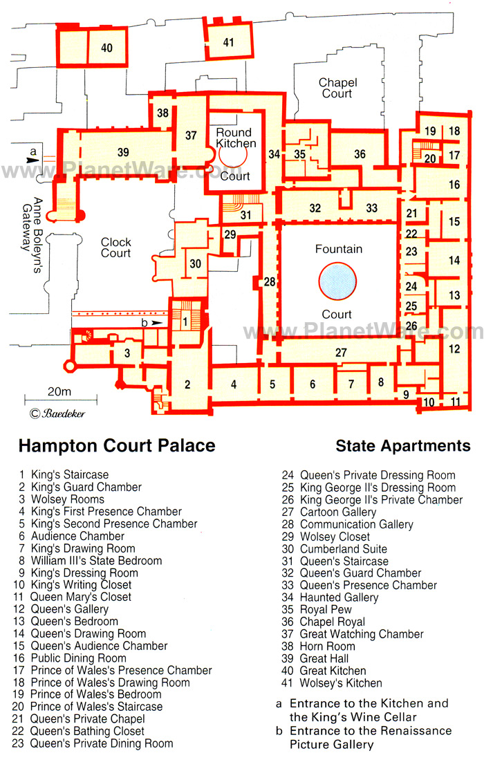 Partial map of the Palace