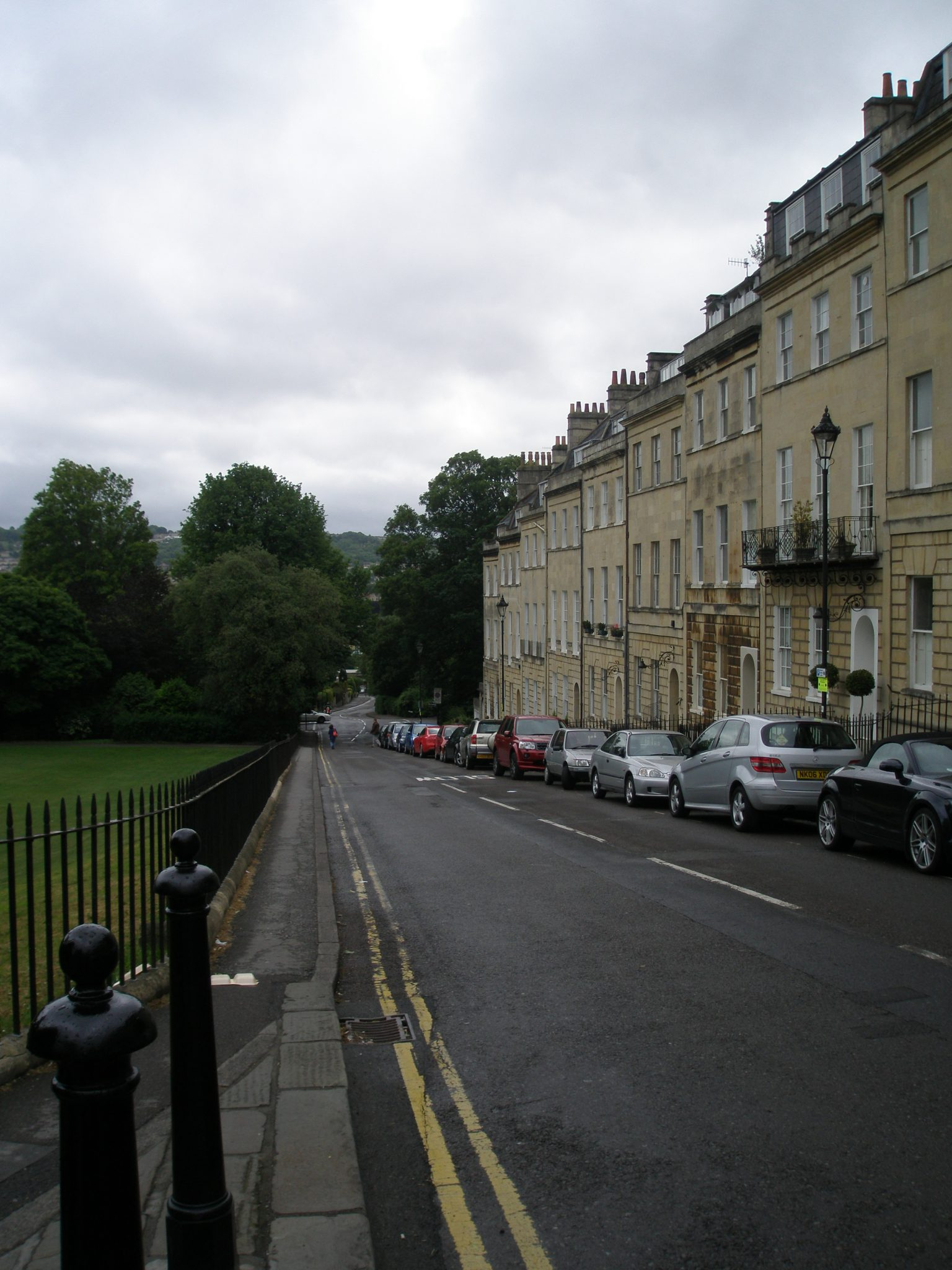 The Marlborough Buildings, downhill from Royal Crescent