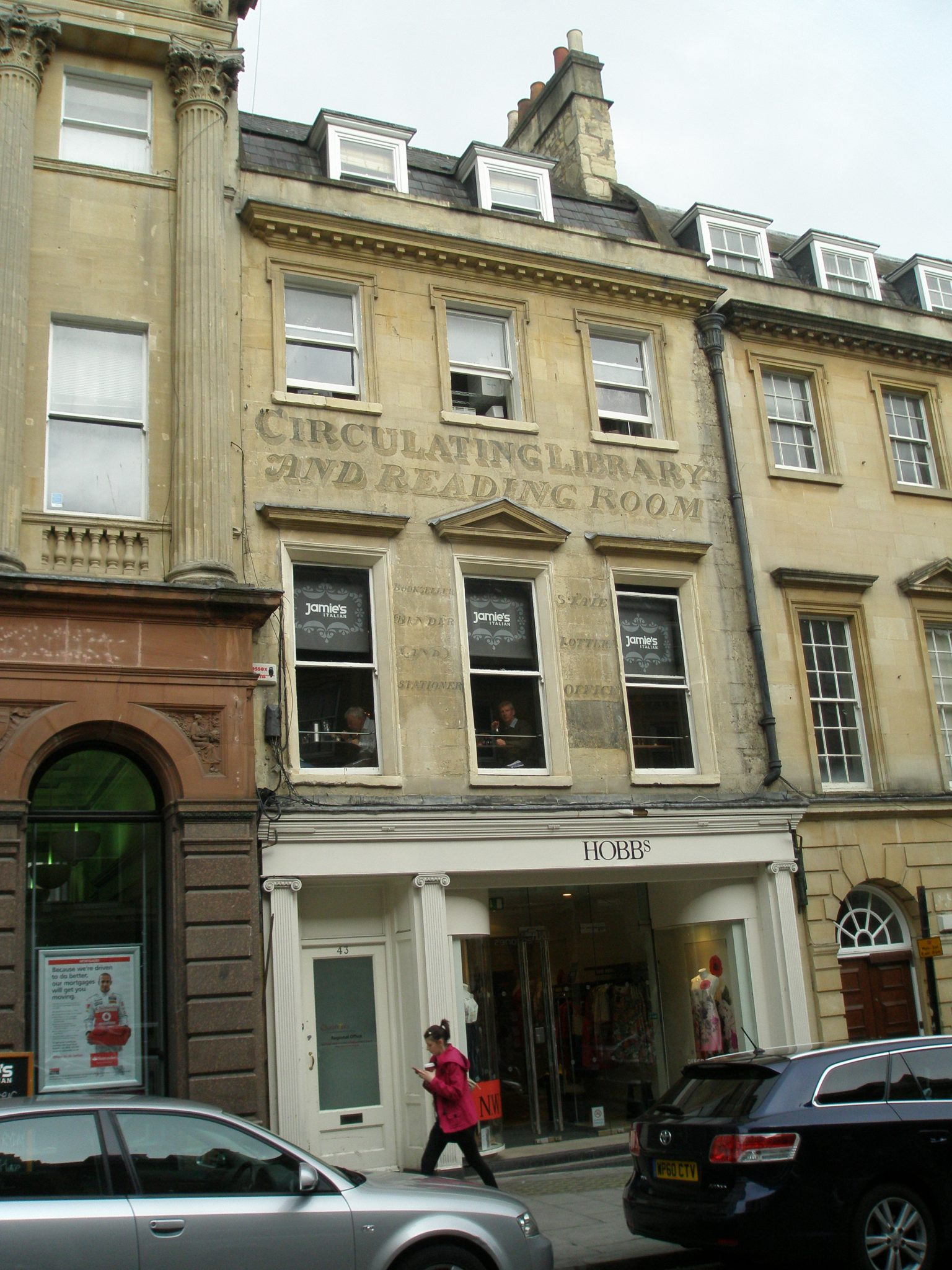 Site of the Circulating Library & Reading Room where Jane Austen borrowed books