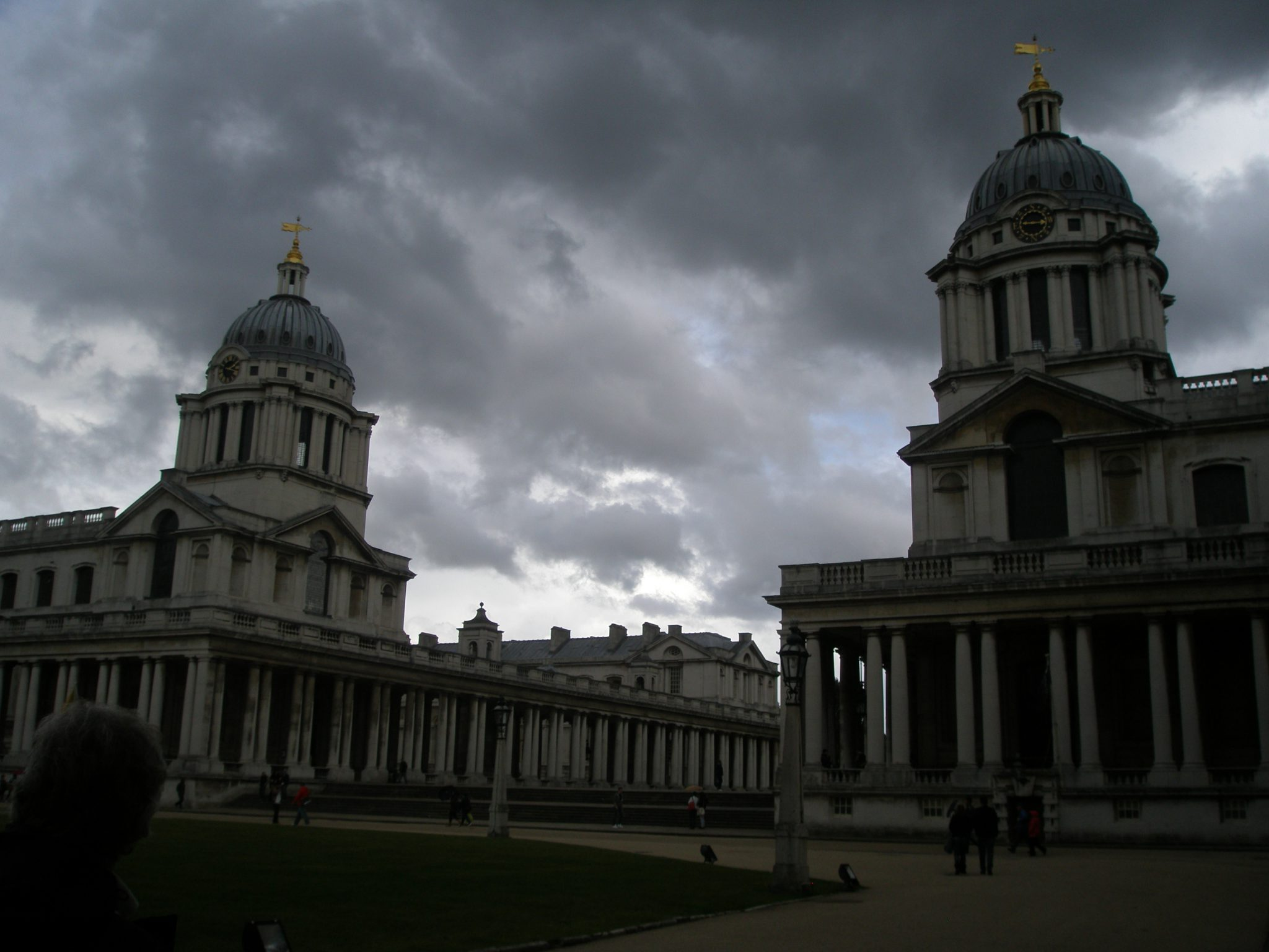 Greenwich: A false-nighttime in the early afternoon.