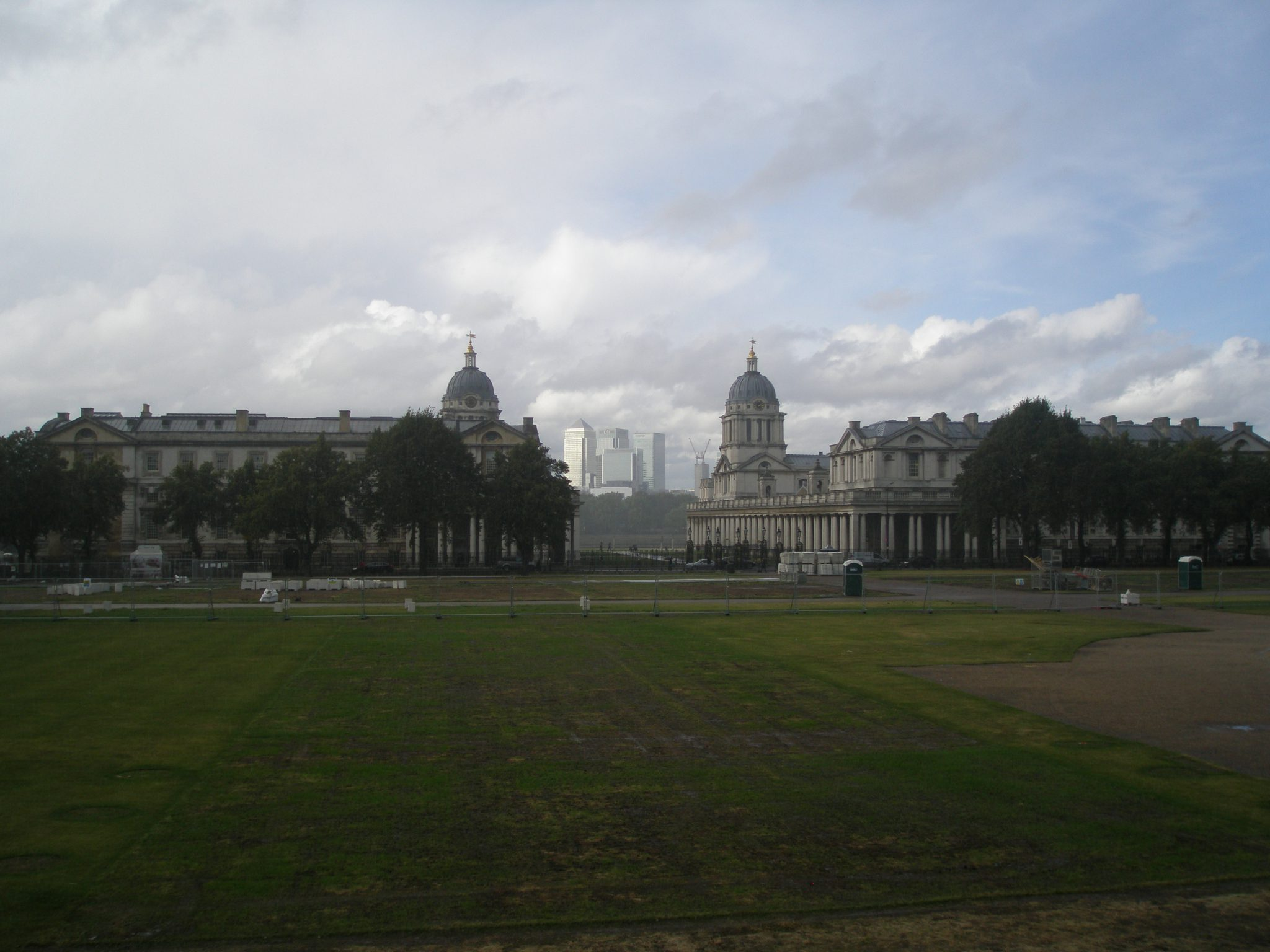 Old Royal Naval College, with Canary Wharf in the distance