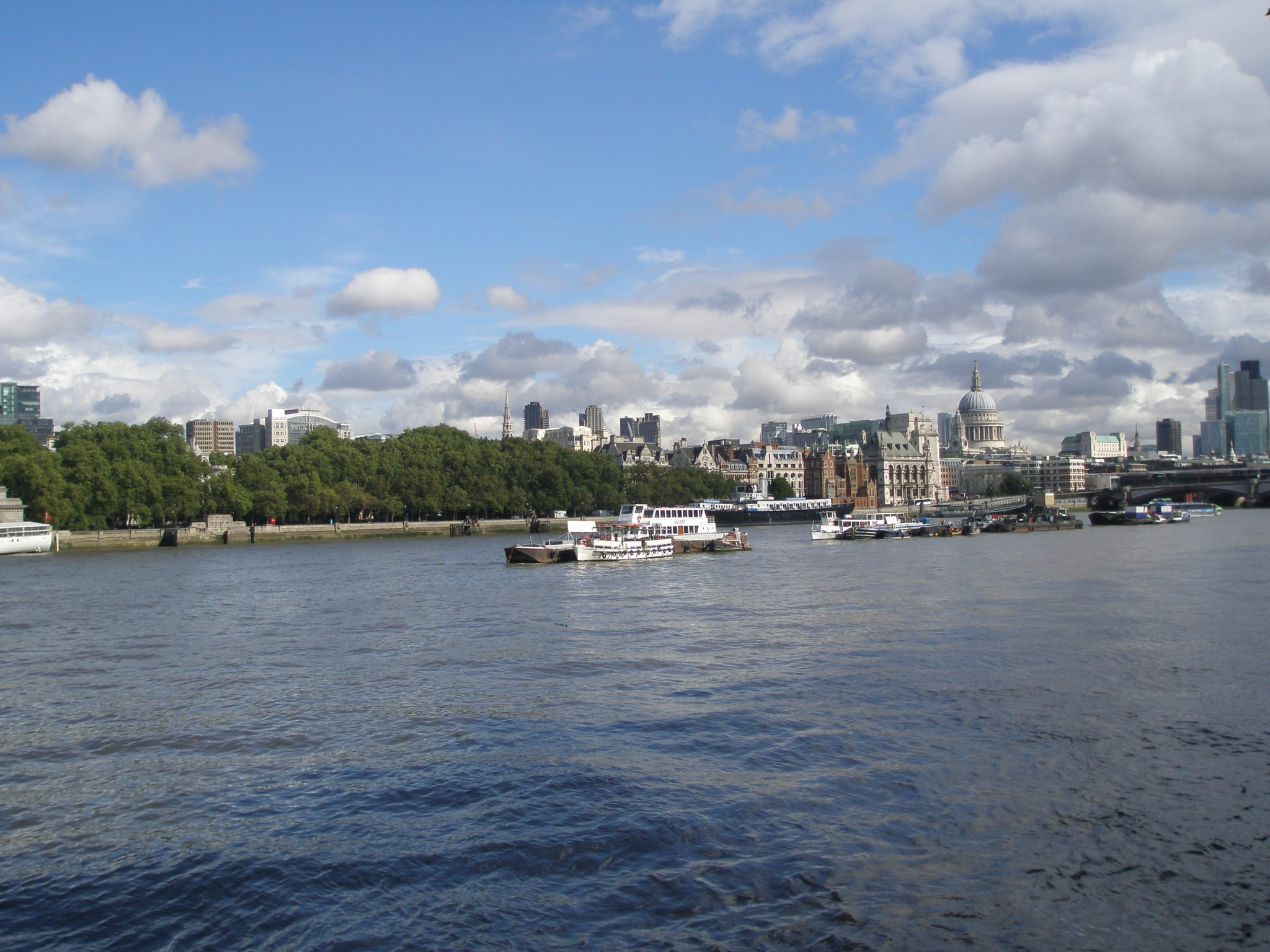 View from the South Bank, across the Thames, toward St.Paul's Cathedral