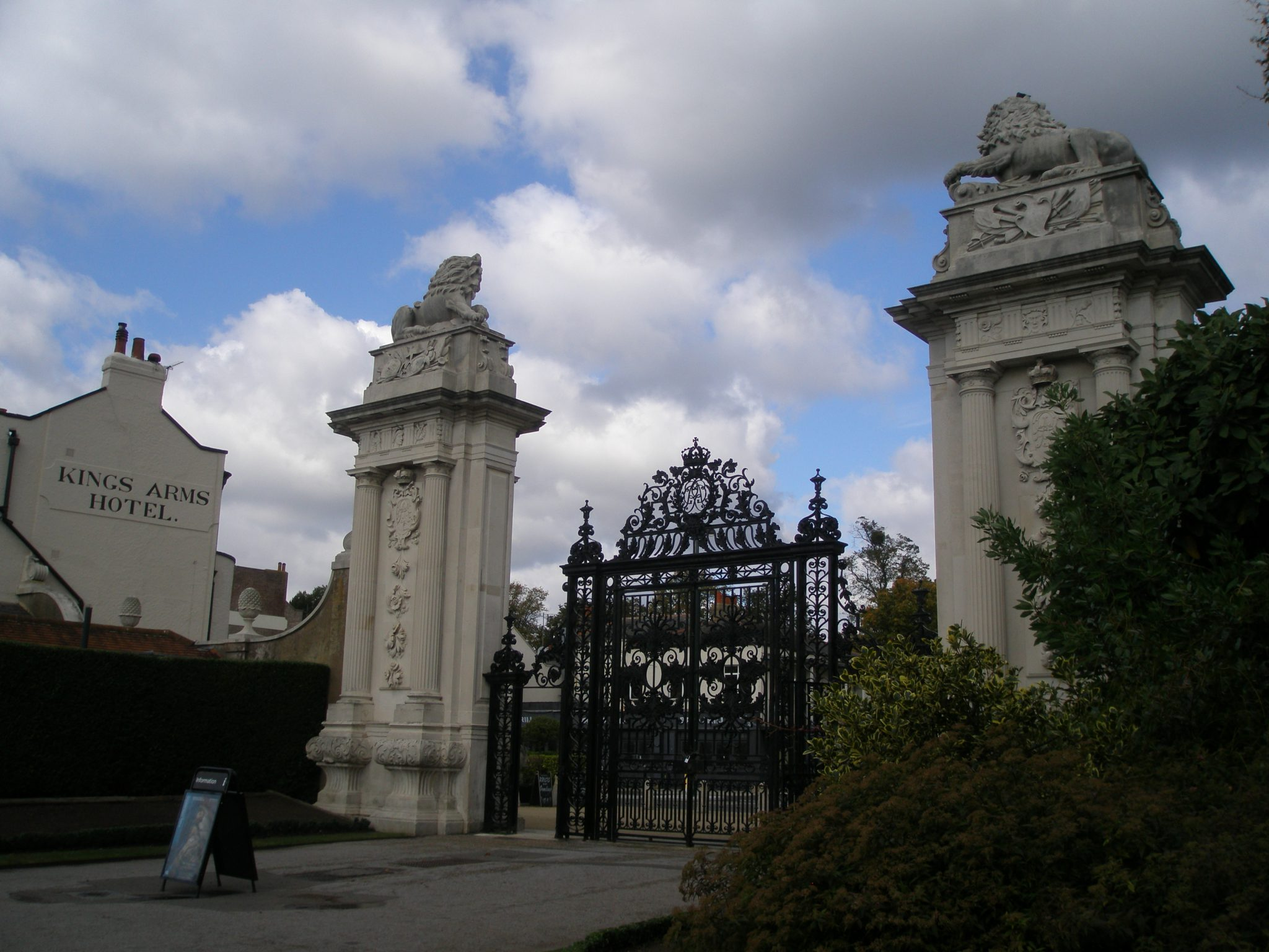 Garden Gate nearest to the Wilderness and the Maze