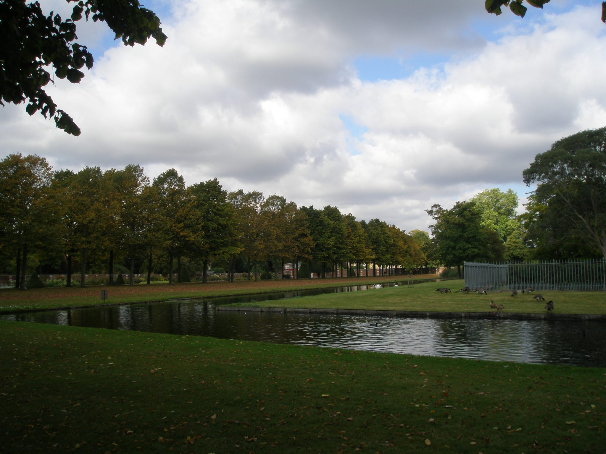 Moat separating Tennis Court Garden Area from the 20th Century Garden