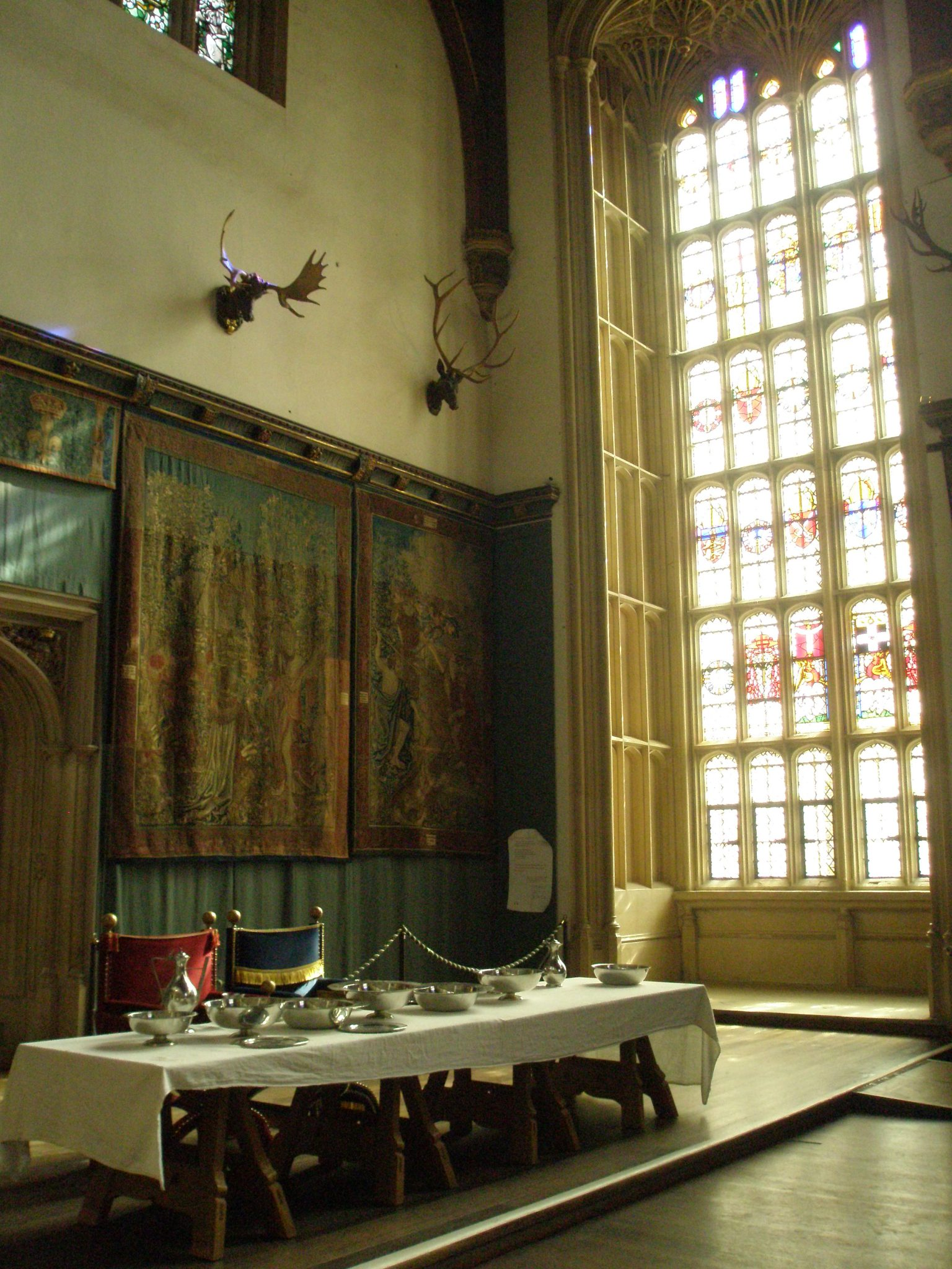 Henry's Dining Table in the Great Hall