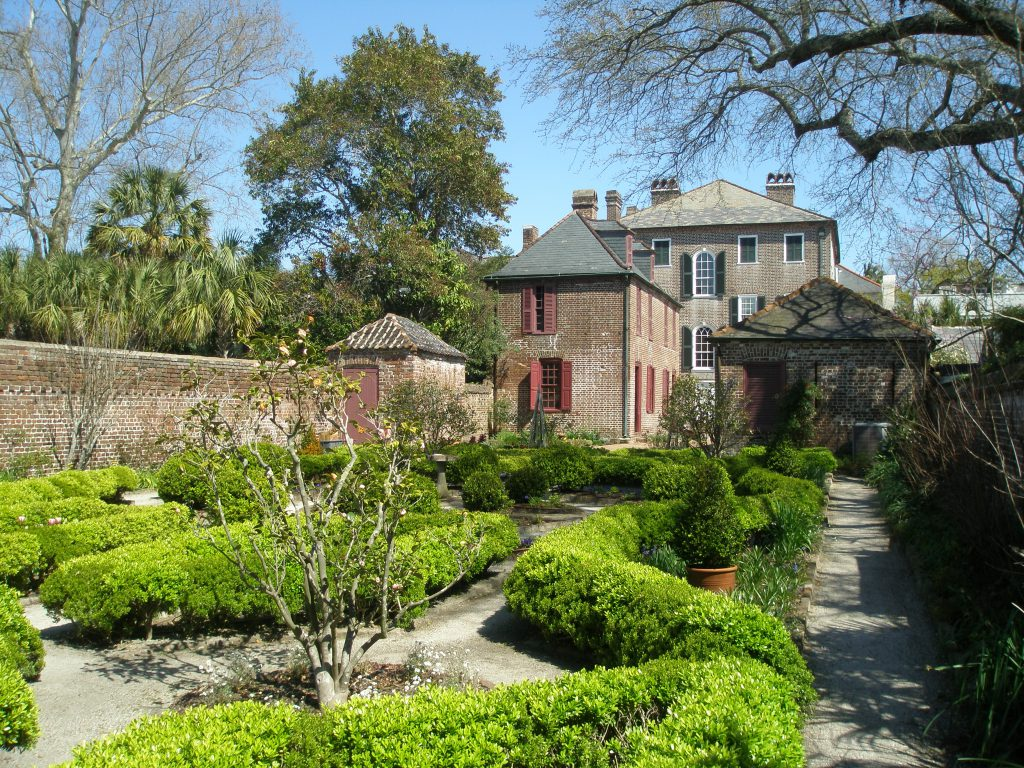 The garden at the Heyward-Washington House, in Historic Charleston. This house was built in 1772.
