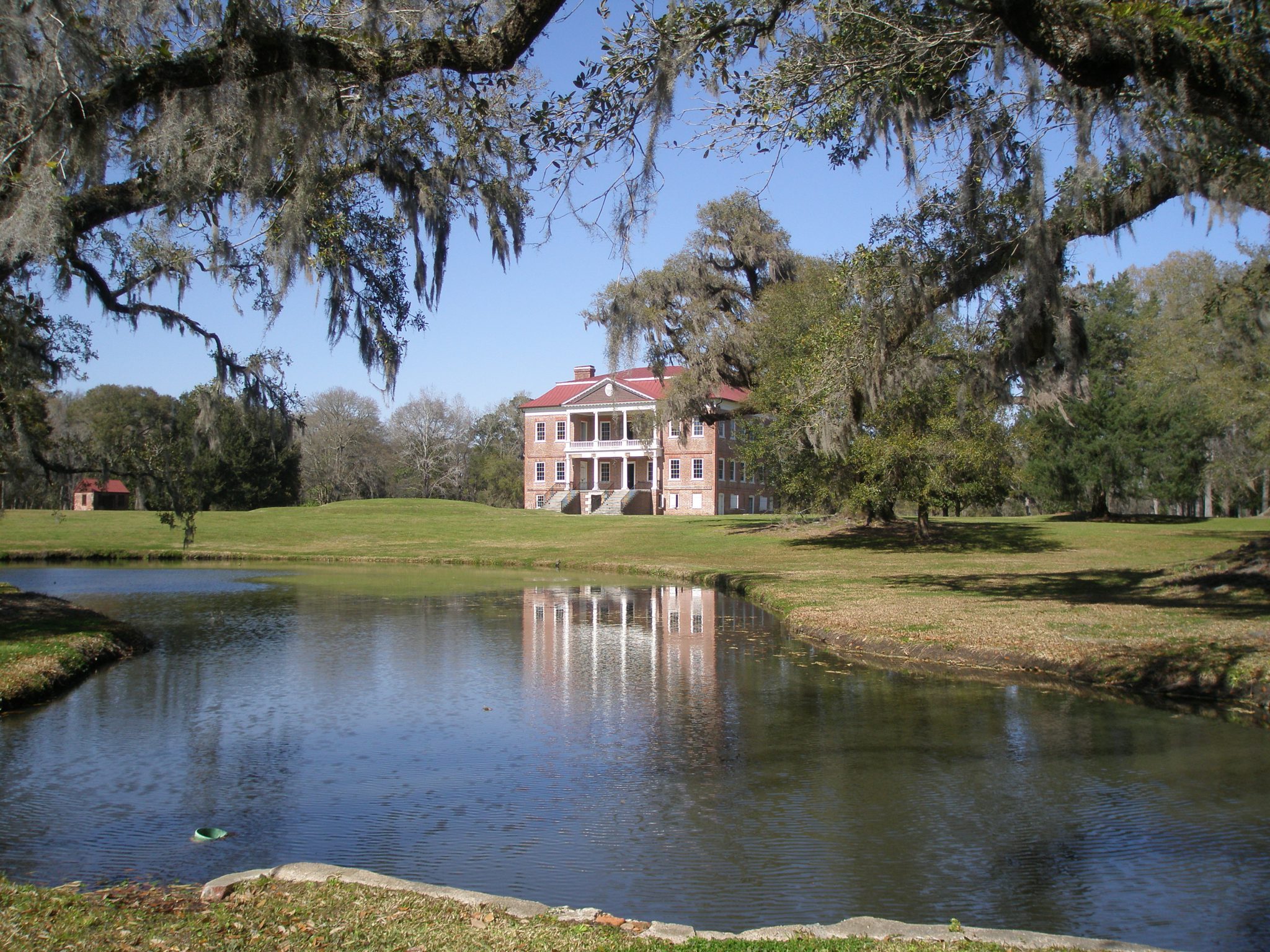 Drayton Hall, a National Historic Landmark & the oldest preserved plantation house in America. 3380 Ashley River Road, Charleston, South Carolina.