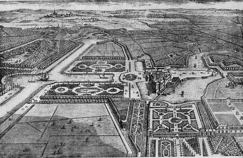 Andre Le Notre's design for the Gardens at Chantilly.
