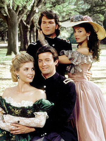 Yes, that's the famous Avenue of the Oaks behind the cast of the 1985 TV miniseries NORTH & SOUTH, which was filmed at Boone Hall.