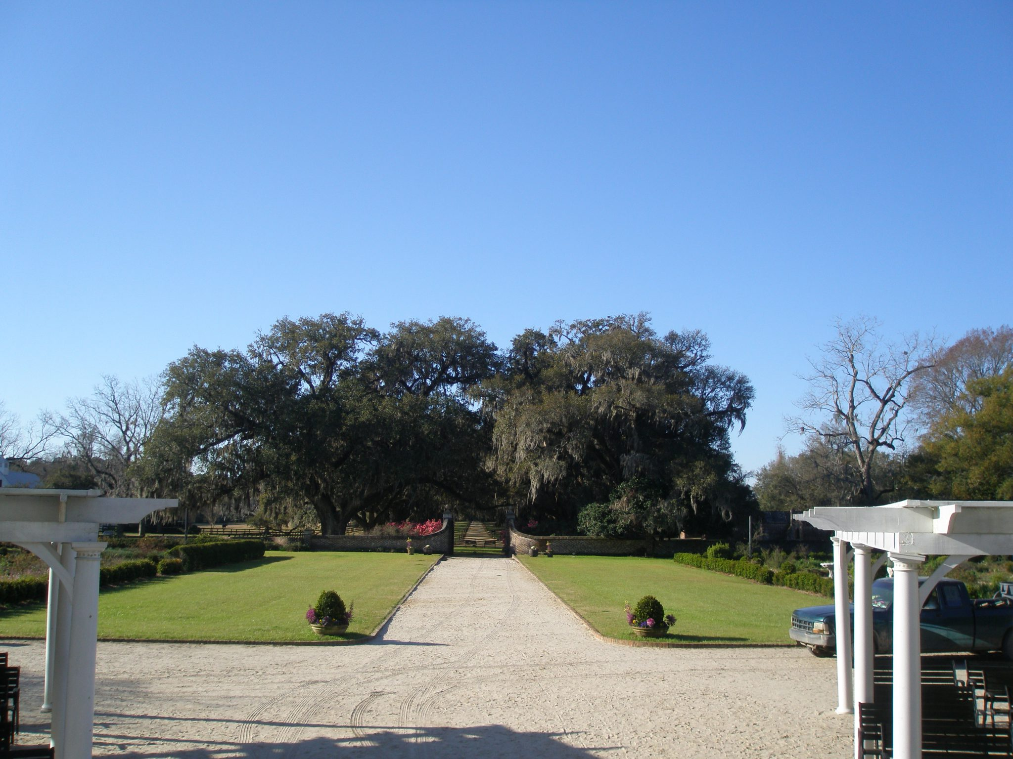 View from front steps of the Main House