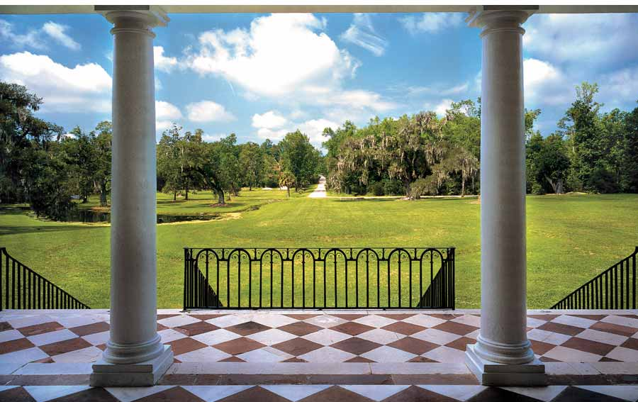 The view from the First Floor Portico. Image courtesy of Ceci New York.