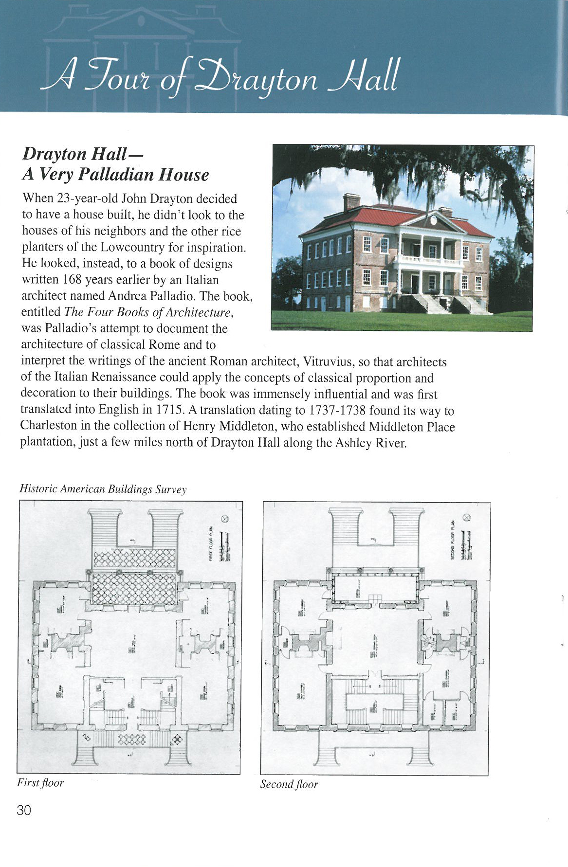 Floor Plans. Image courtesy of Drayton Hal & The National Trust for Historic Preservation.