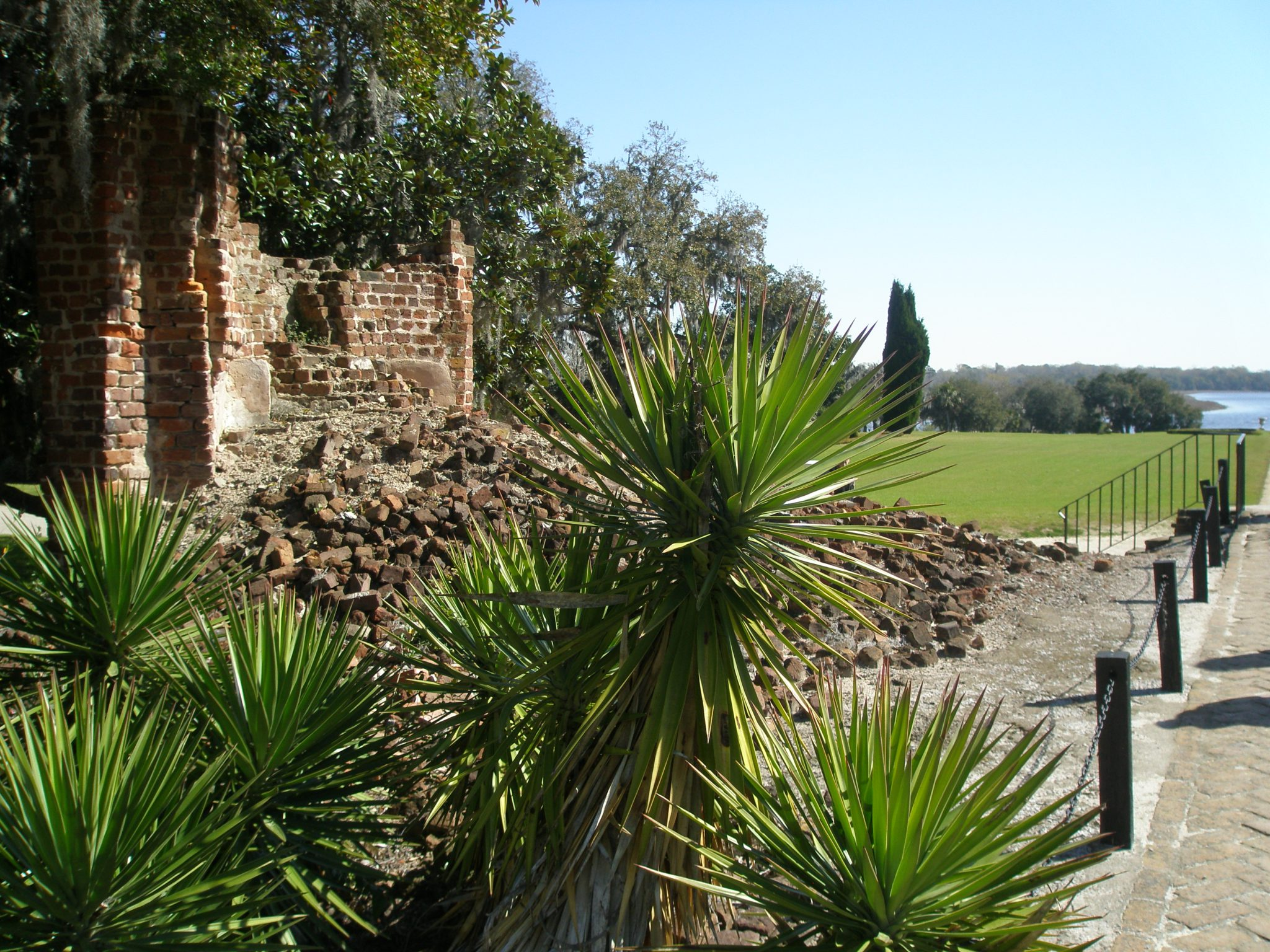The rubble of the original, Main House, which was built in 1705.