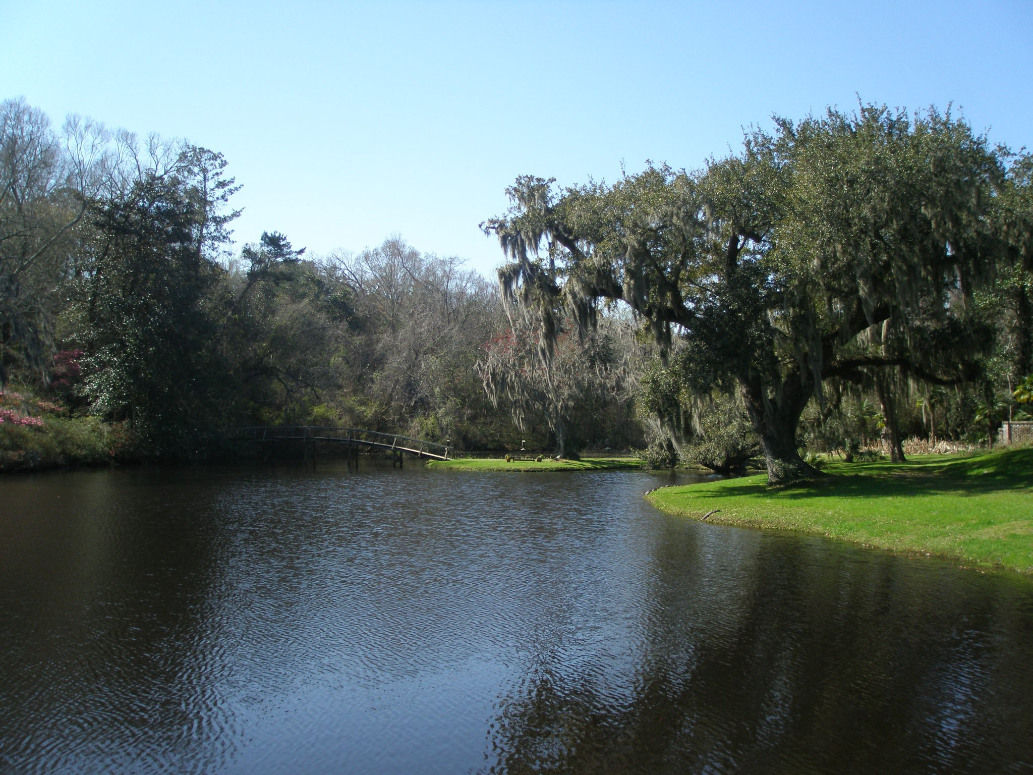 Mill Pond with Bridge to Azalea Hill