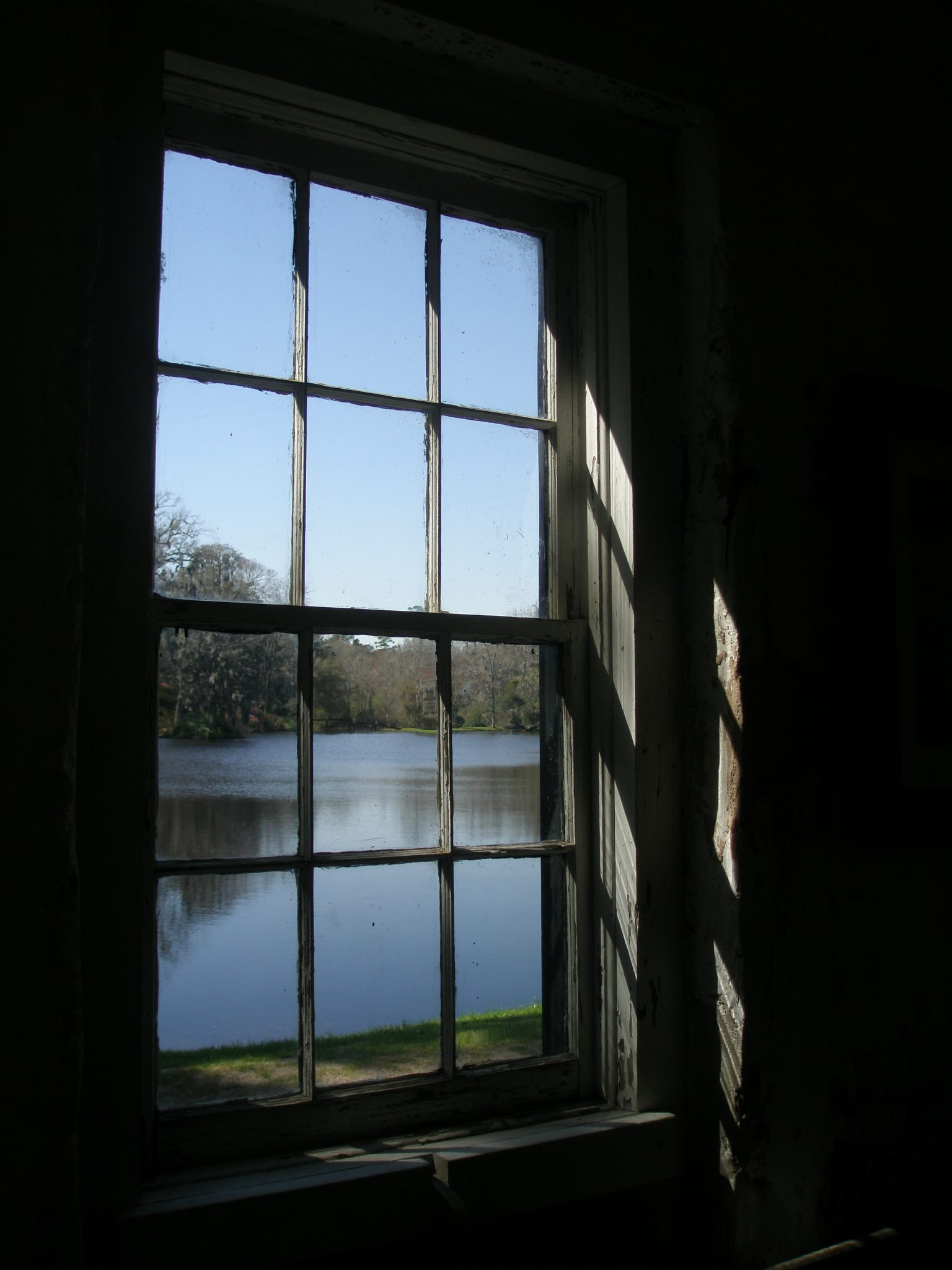 View from inside The Mill, out to the Mill Pond