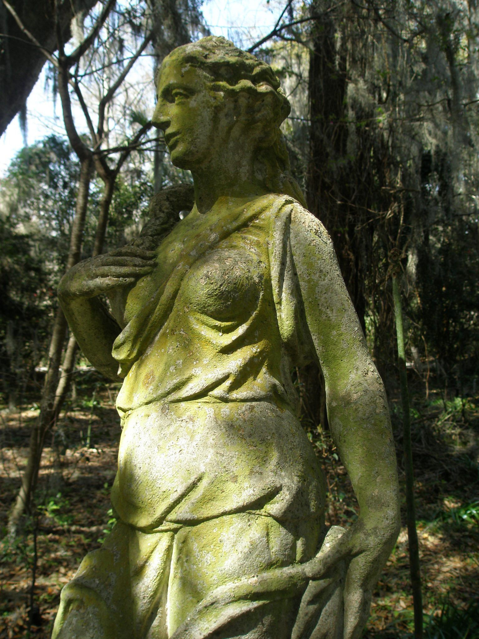 A Mossy Goddess, near the Crypt