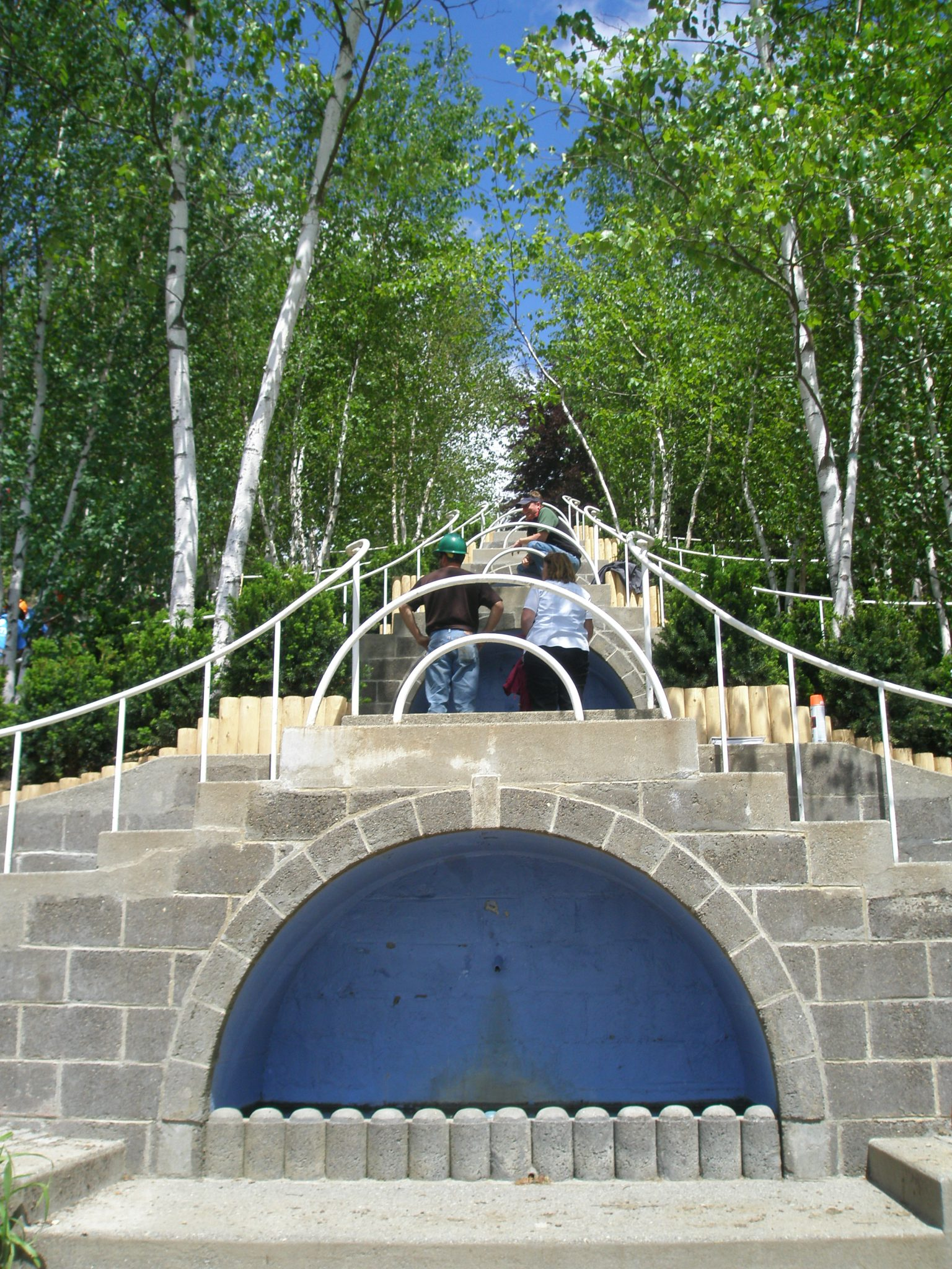 Naumkeag's Blue Steps, being restored. Stockbridge, Massachusetts. June 4, 2013.
