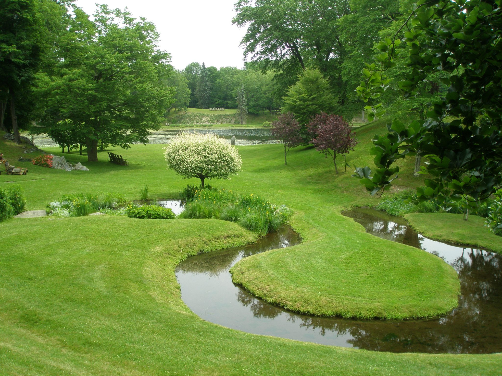 "The Horseshoe-Shaped Stream, set amid one of Lester Collins' ""Cup Gardens"" at Innisfree. Millbrook, New York, on the morning of June 6, 2013."