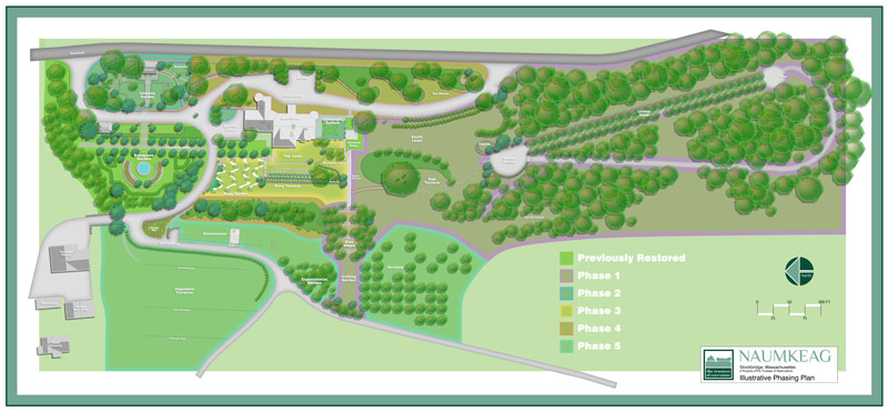 The Trustees of Reservations' multi-year plan for the restoration of Naumkeag's gardens.