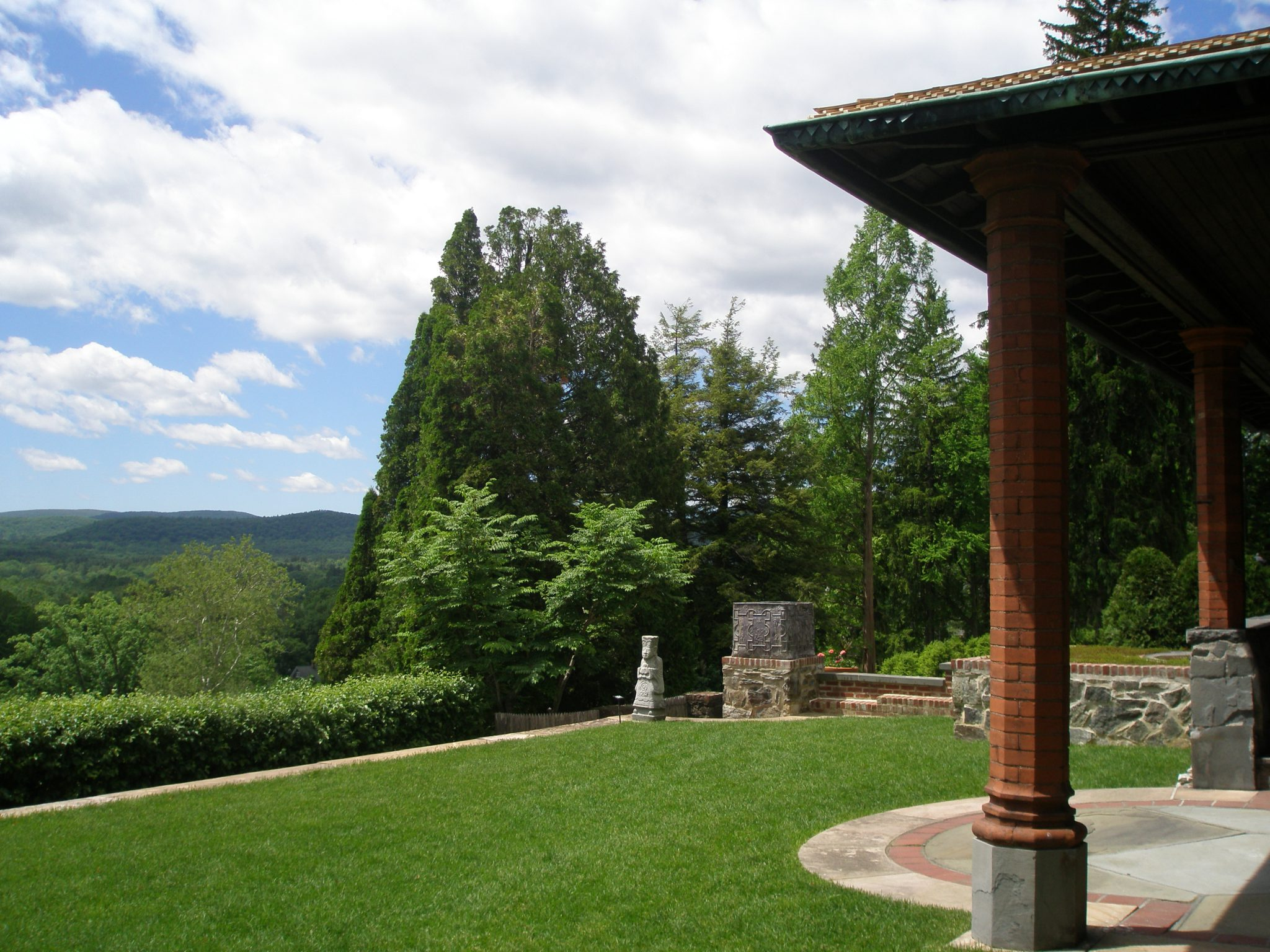 View toward the Western hills, from the Top Lawn