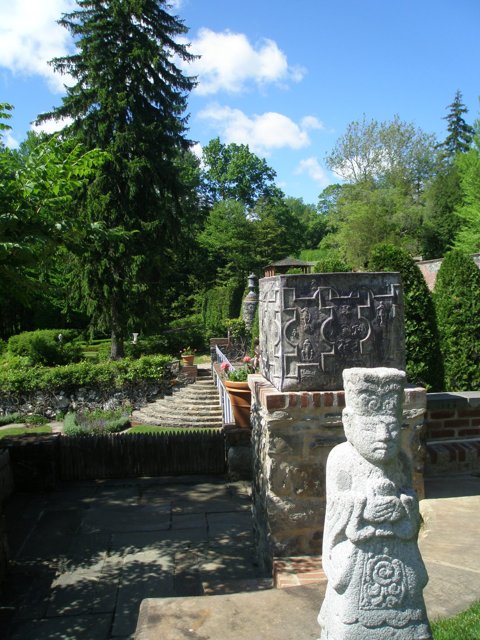 View from the edge of the Top Lawn toward the Evergreen Garden