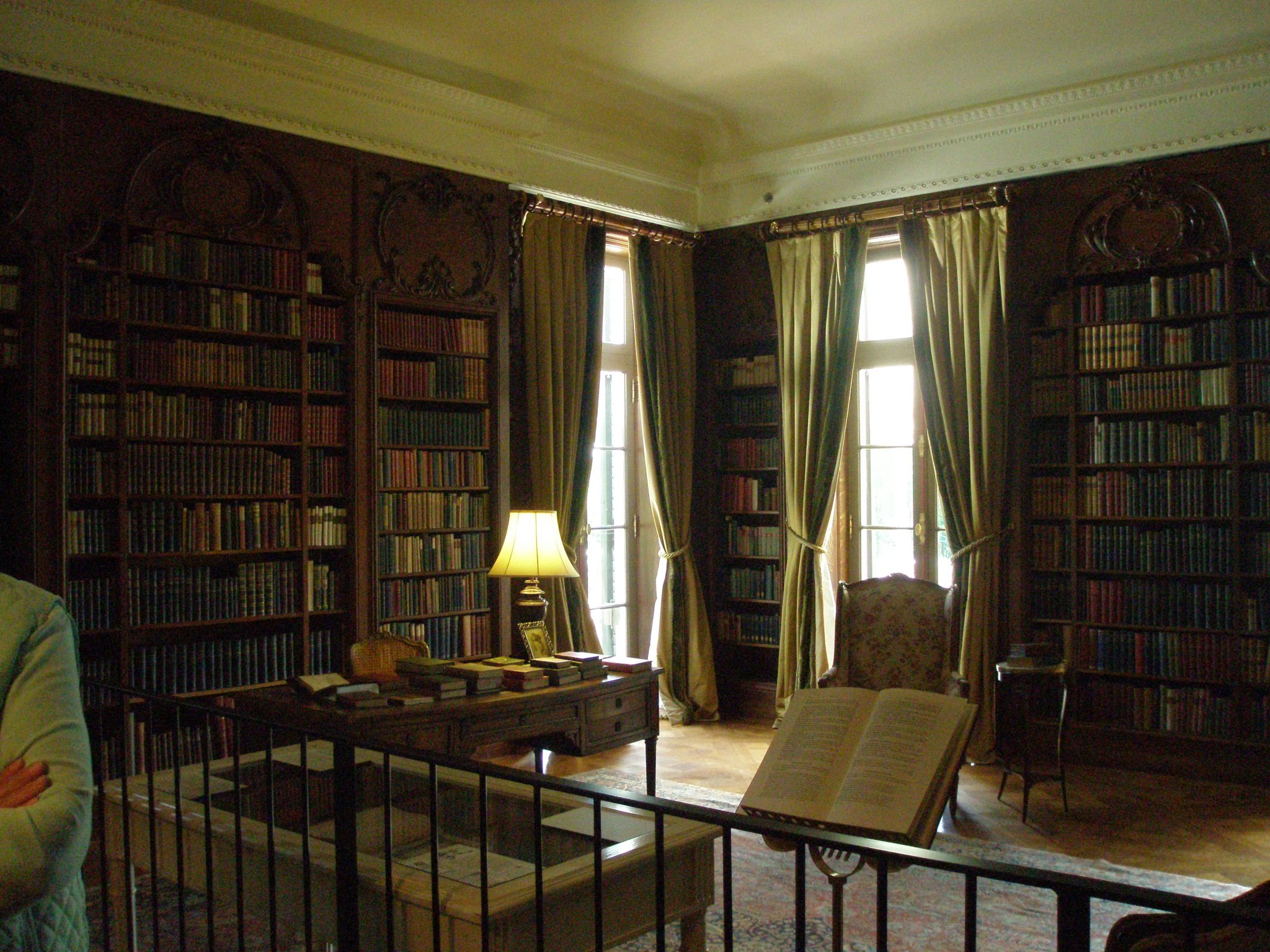 Edith Wharton's Library on the Main Floor. Wharton liked to gather friends here for literary readings.