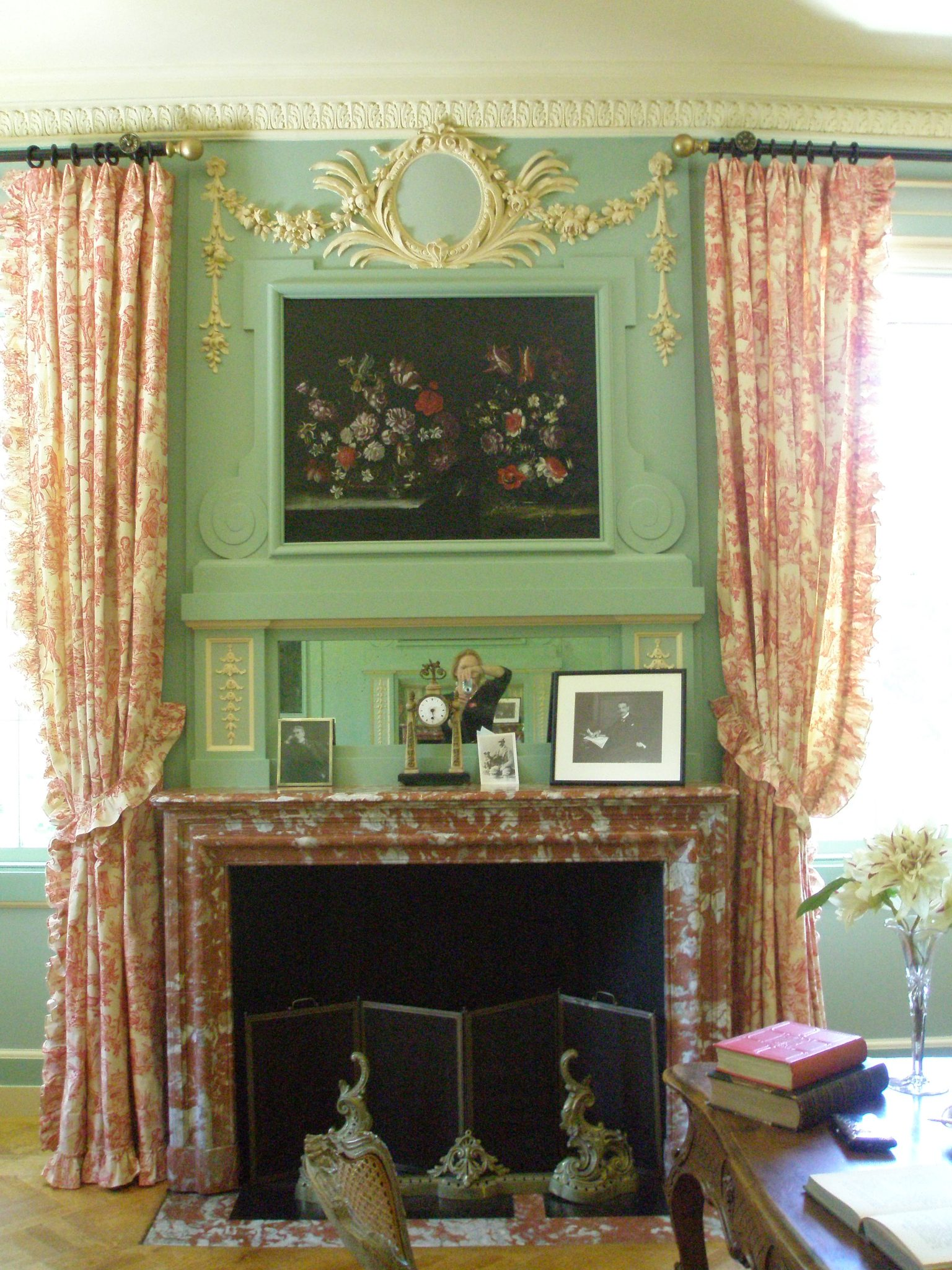 Mantle in the Boudoir
