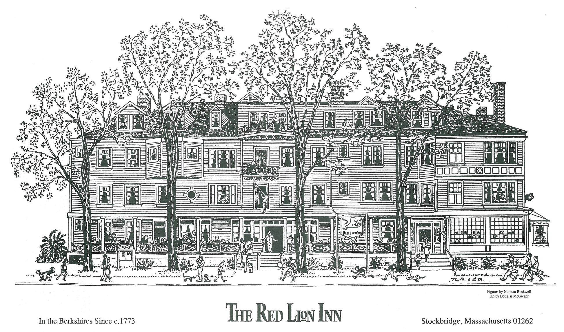 My rooms at the Red Lion were under the two dormers, farthest to the left in this illustration.