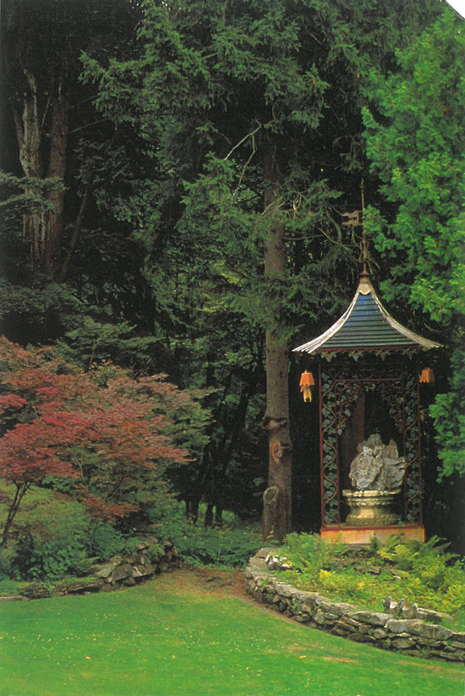 The Pagoda, before the current reconstruction of the gardens