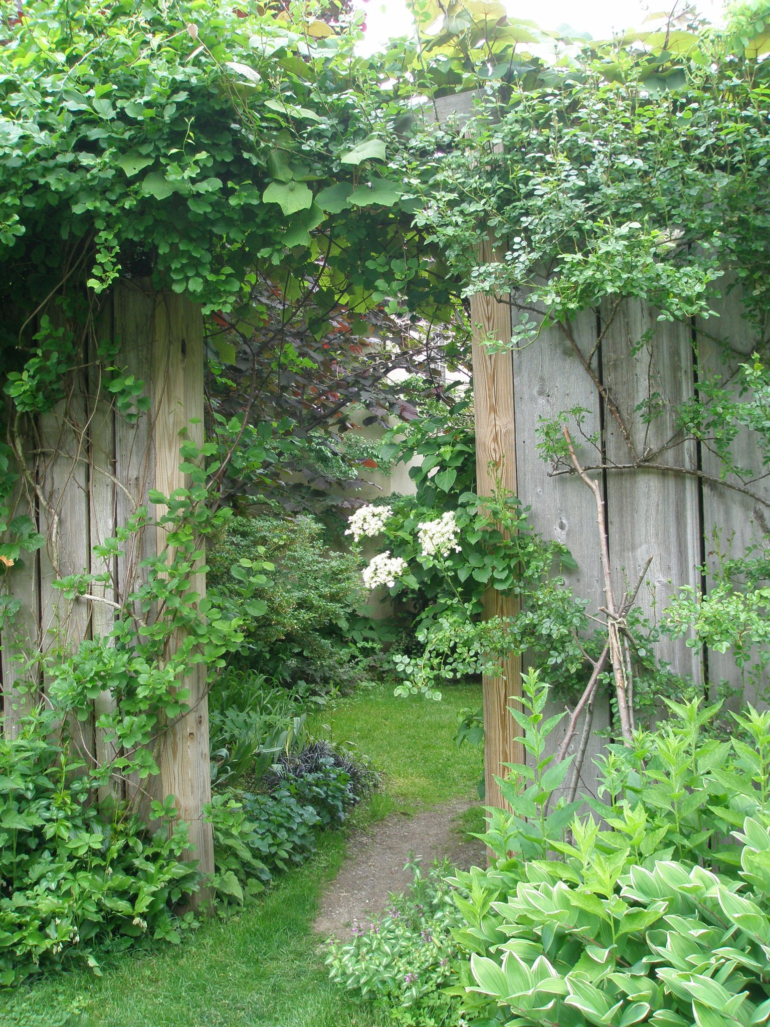 Another Entry Gate to the Enclosed Flower Garden