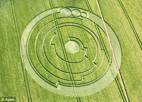 Another Crop Circle in England. Image courtesy of The Daily Mail.