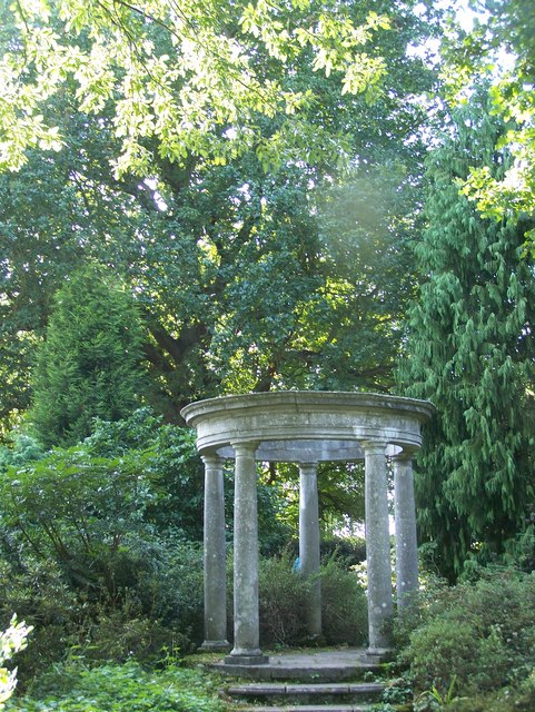 The Temple is in the farthest reaches of the eastern woodlands of the Garden.