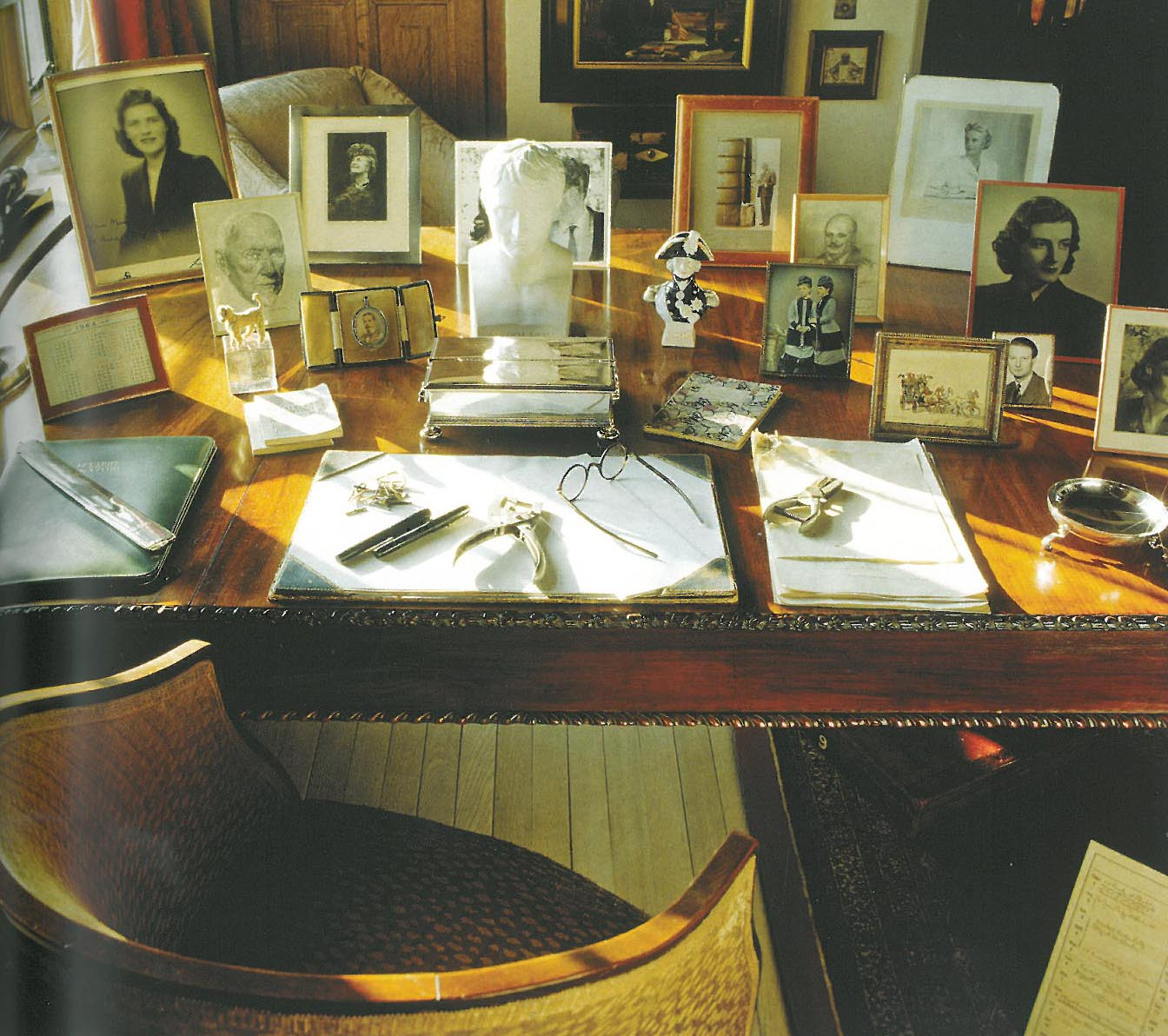 Churchill's desk, in his Study. Image courtesy of The National Trust.