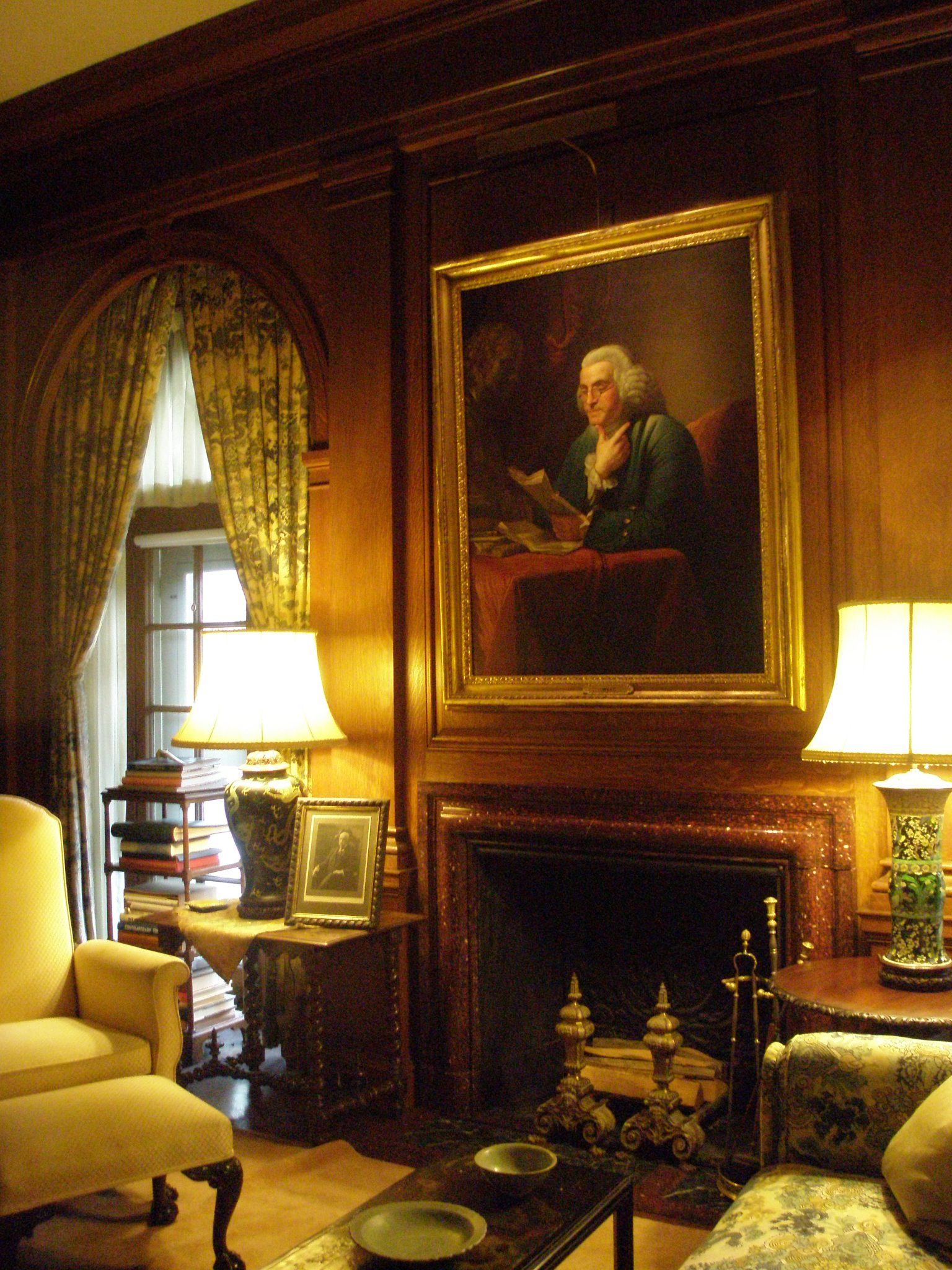 Office, with portrait of Benjamin Franklin (c.1792)