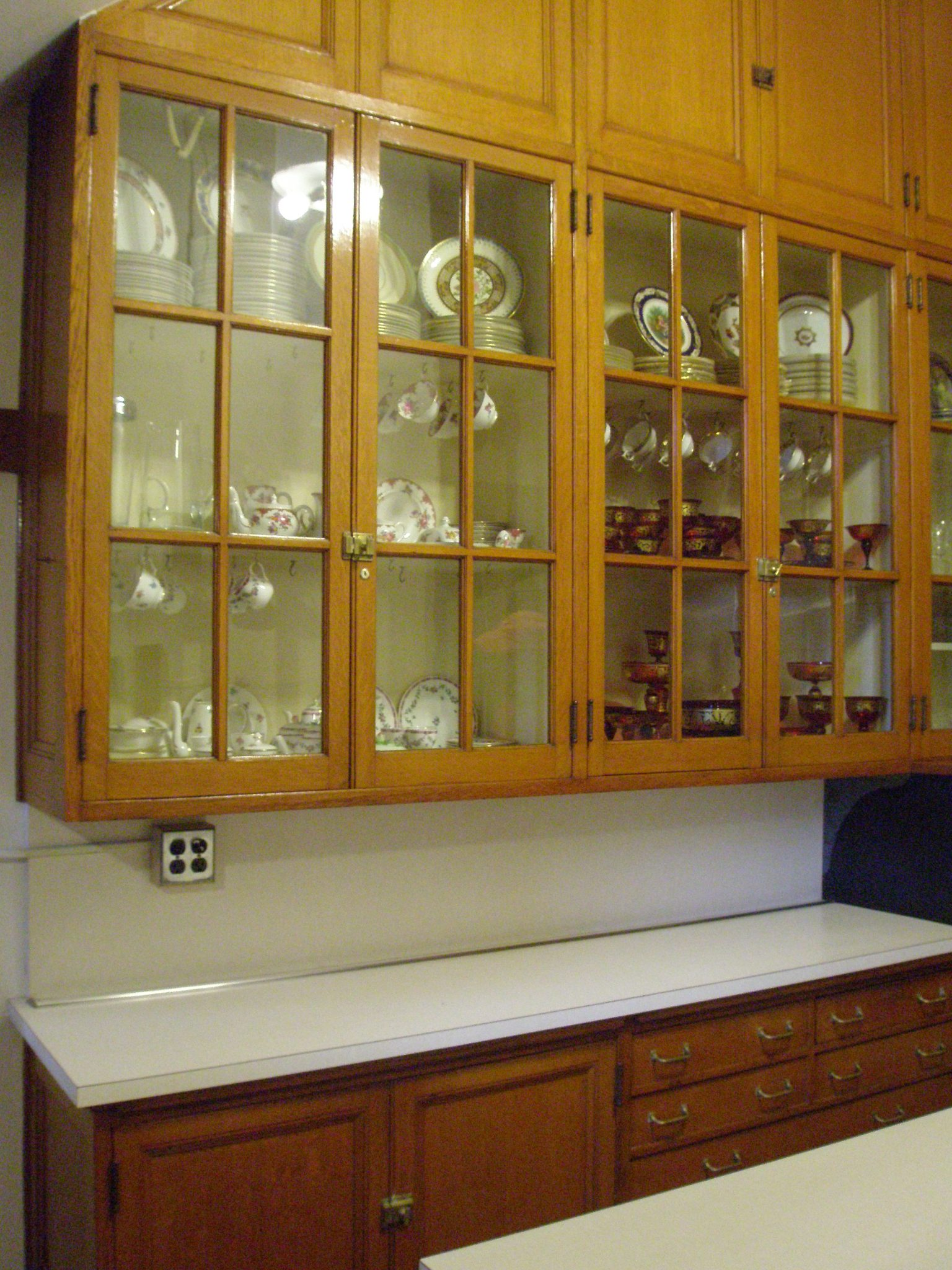 Butler's Pantry. A dumbwaiter connects this room to the main kitchen, which is directly below.