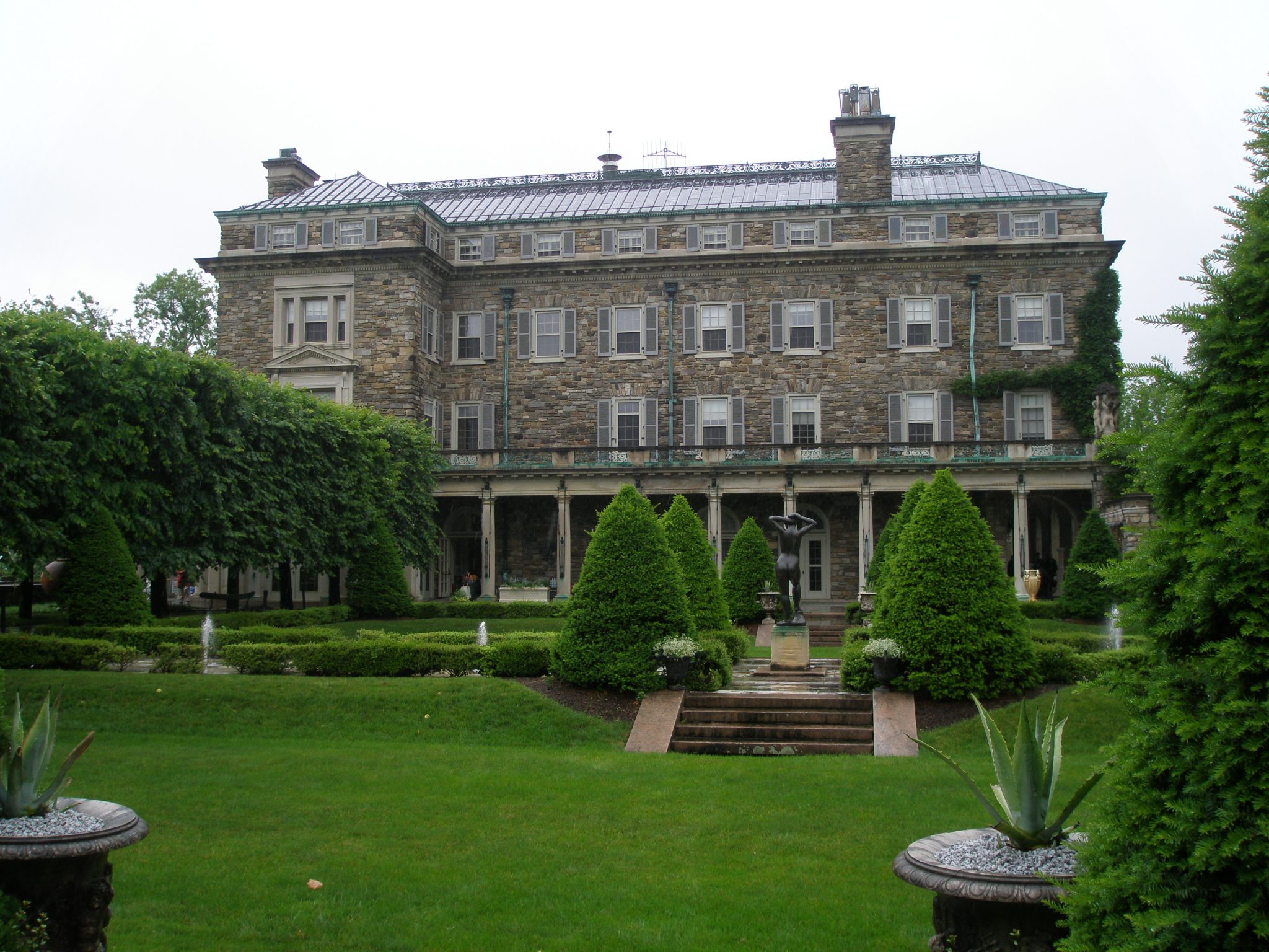 A view of the Main House, from the Inner Garden