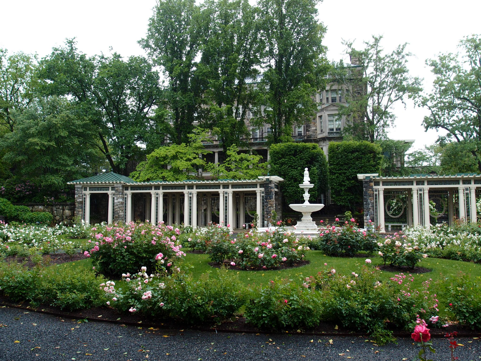 The Rose Garden, which originally contained an evergreen maze (which was removed in 1916).