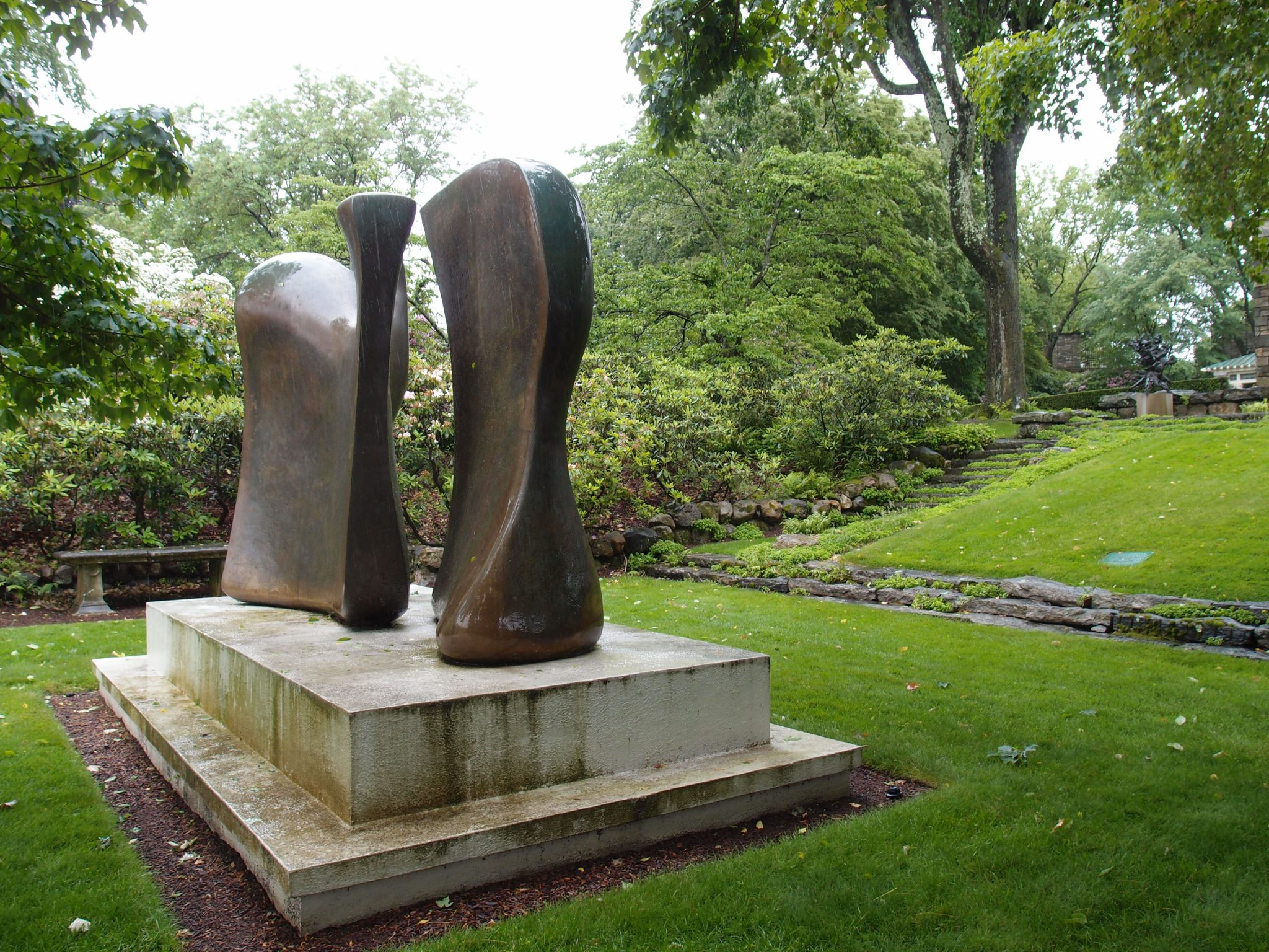 Another view of Henry Moore's KNIFE-EDGE, TWO PIECE