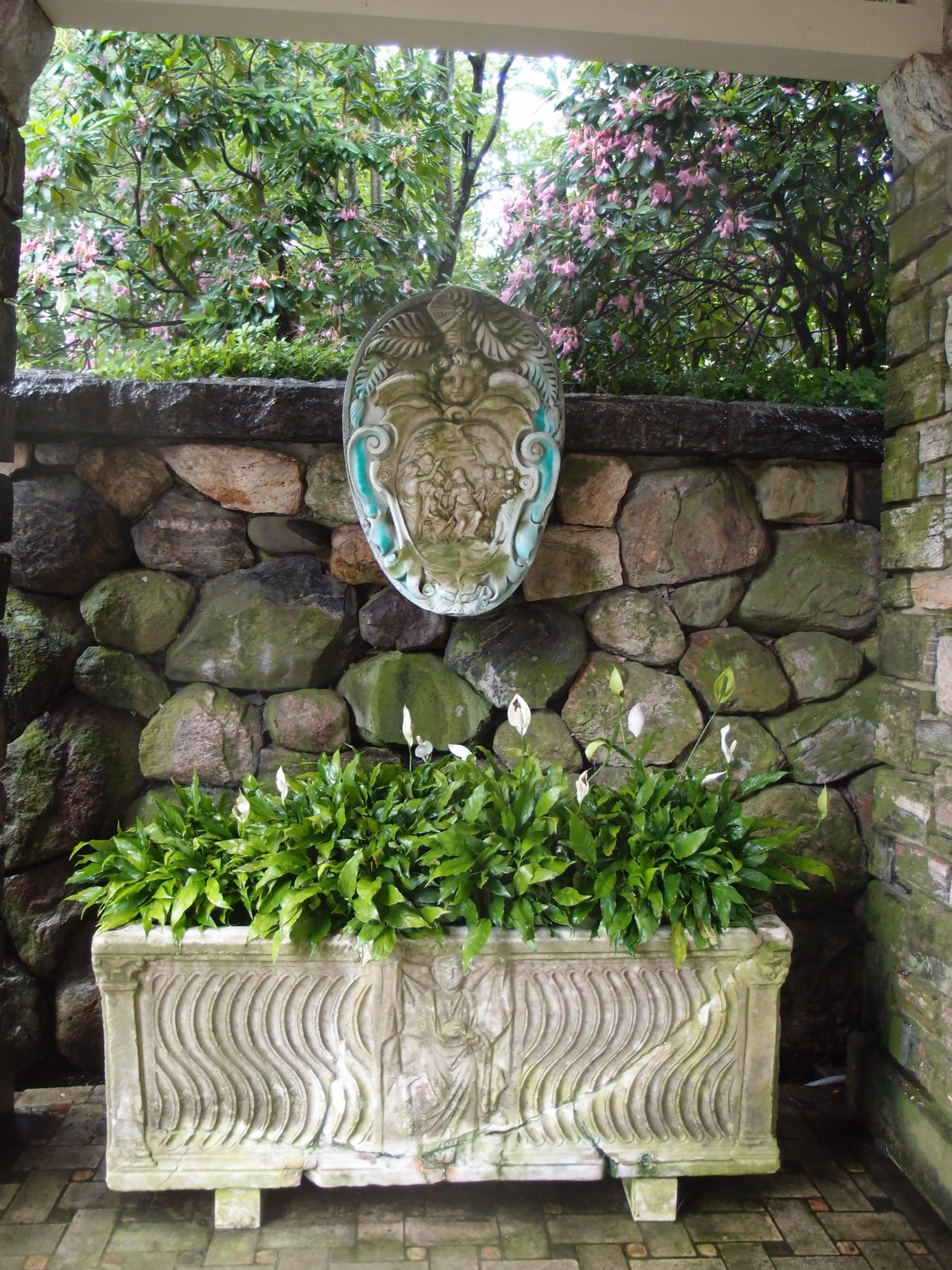 A dry-ish corner under the Rose Garden Loggia