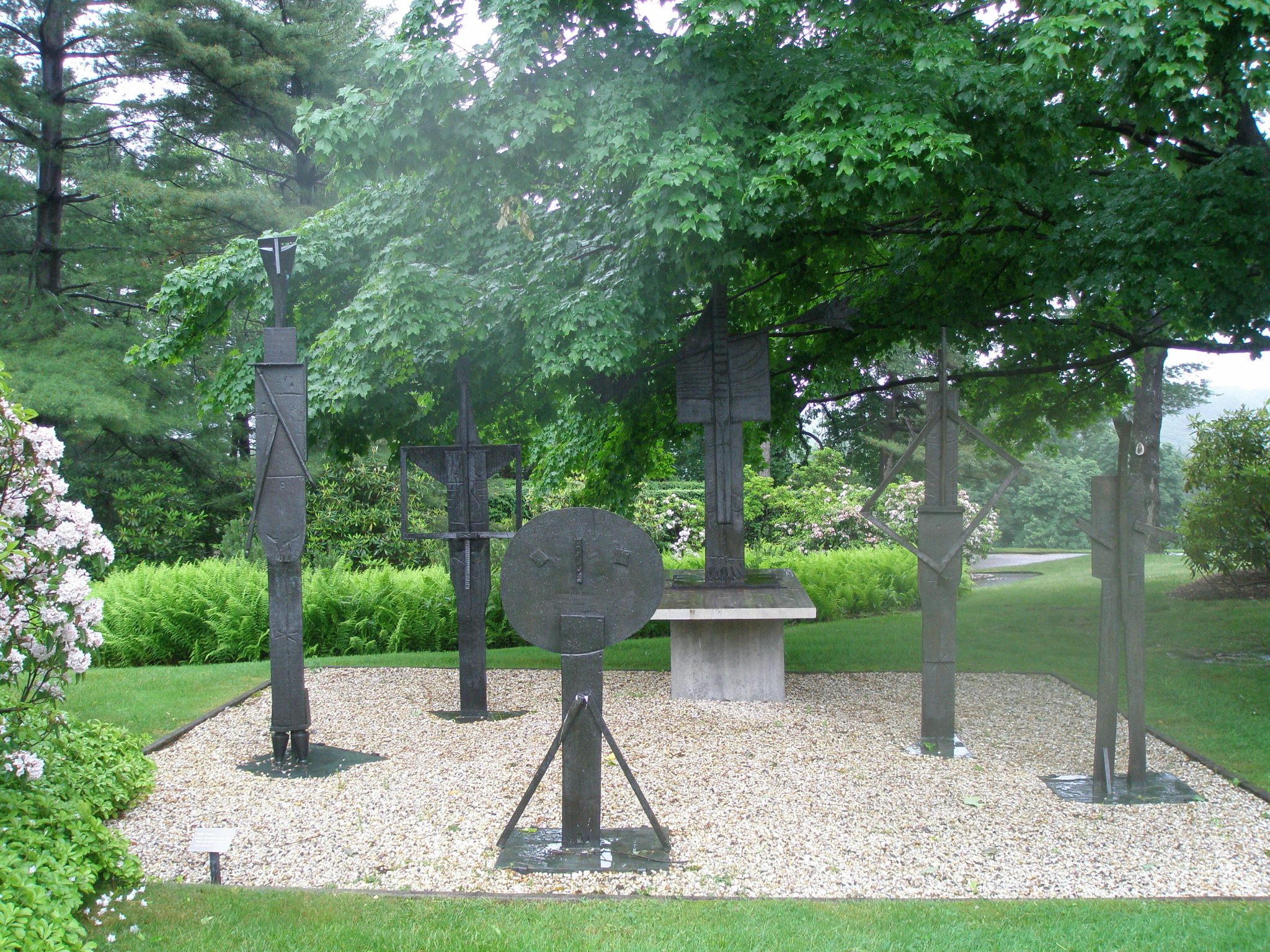 And near the Brook Garden, on the Tennis Lawn, is Pablo Picacco's THE BATHERS (1956-57)