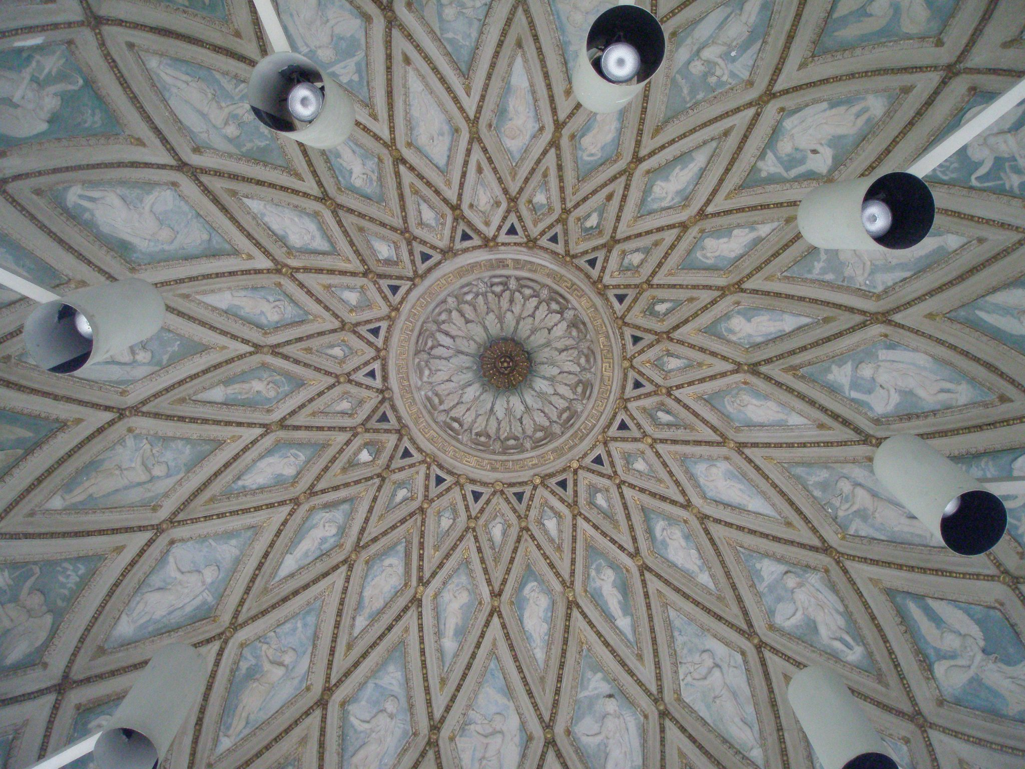 The domed ceiling, over Venus