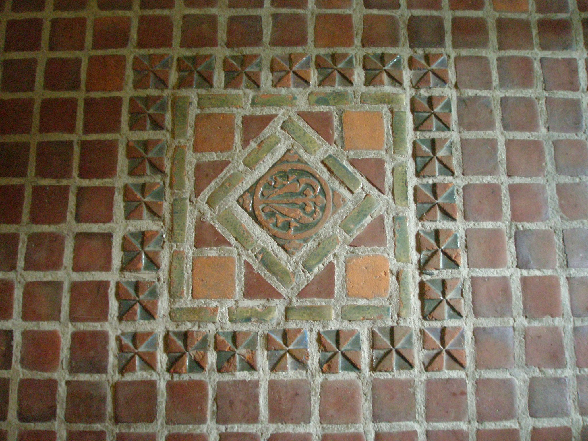 Floor Tile: one of the earliest designs made by Henry Mercer's Moravian Tileworks.