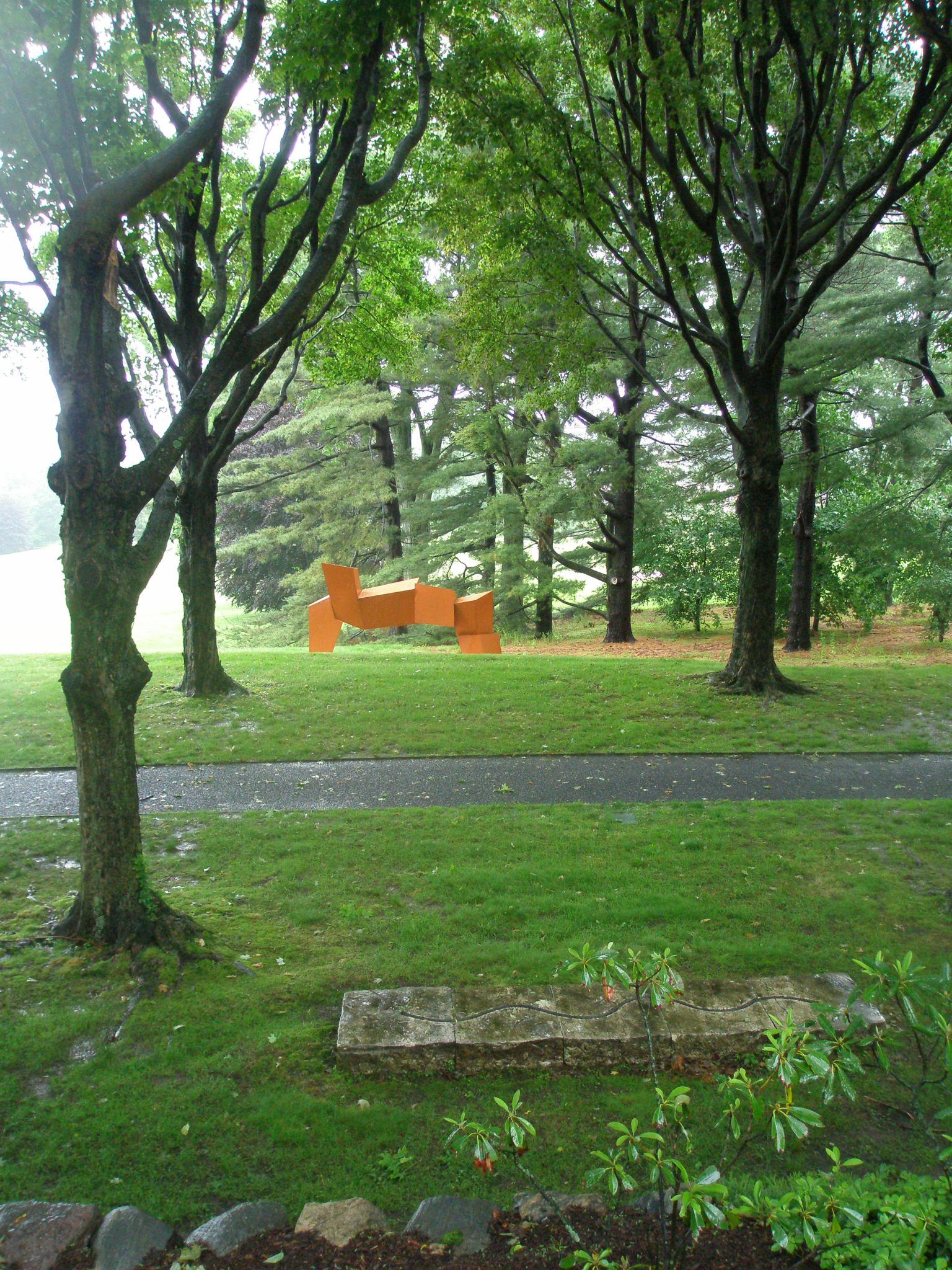 Further along the Maple Walk is James Rosati's LIPPINCOTT II (1965-69); painted, cor-ten steel.