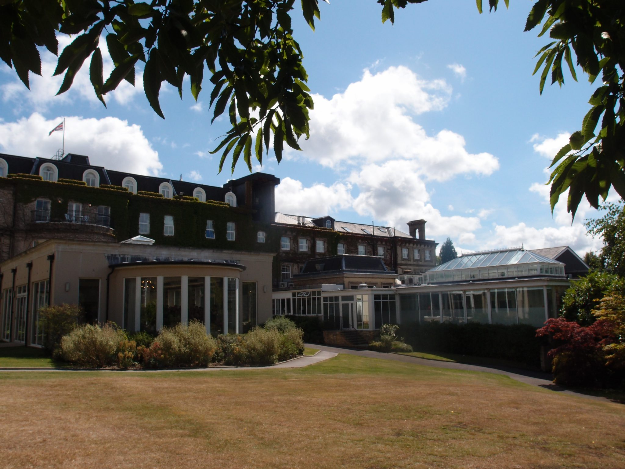 The rear elevation of The Spa Hotel, which looks out over many acres of private parkland.