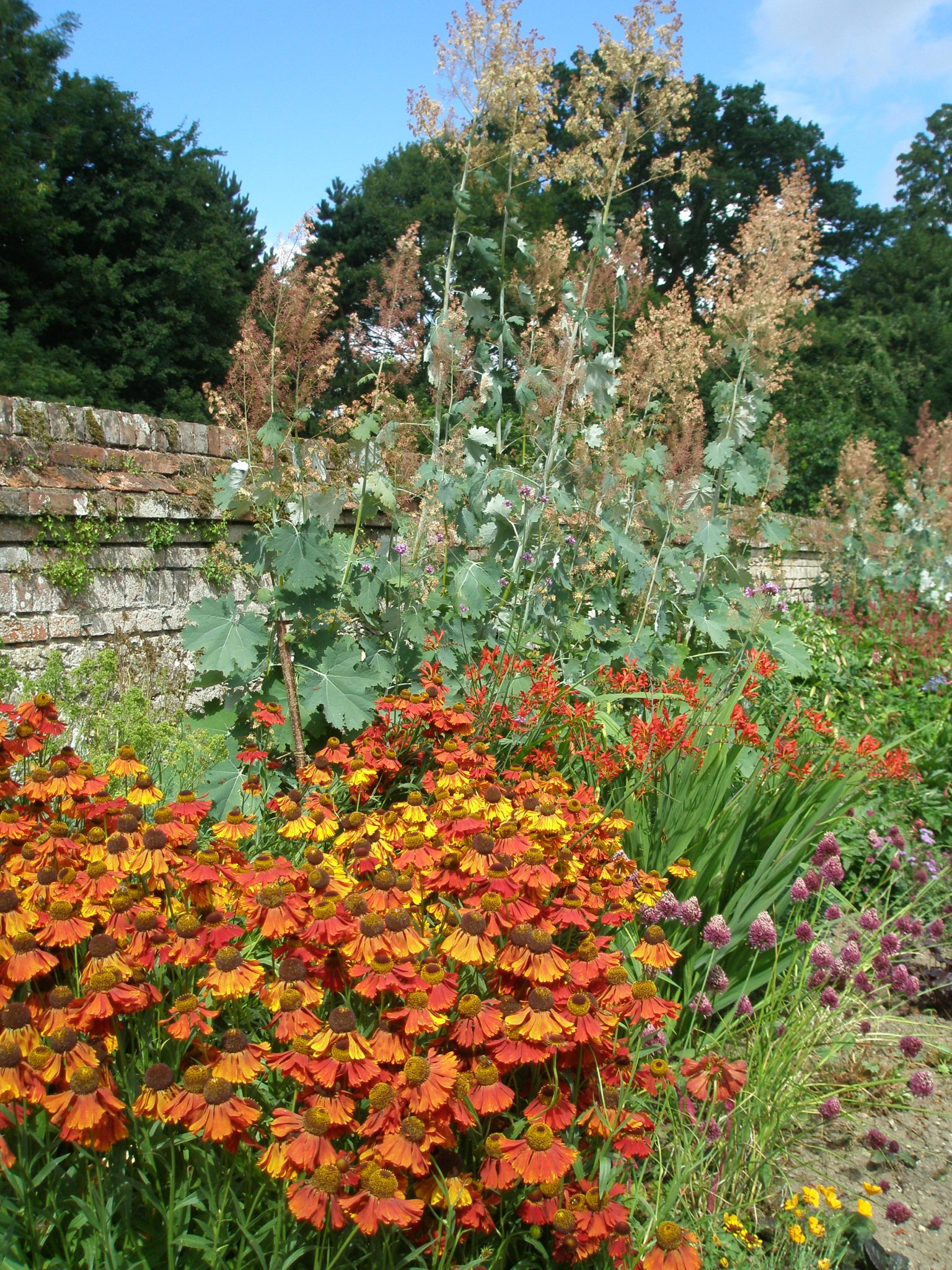 Exuberant Plantings along the Broad Walk