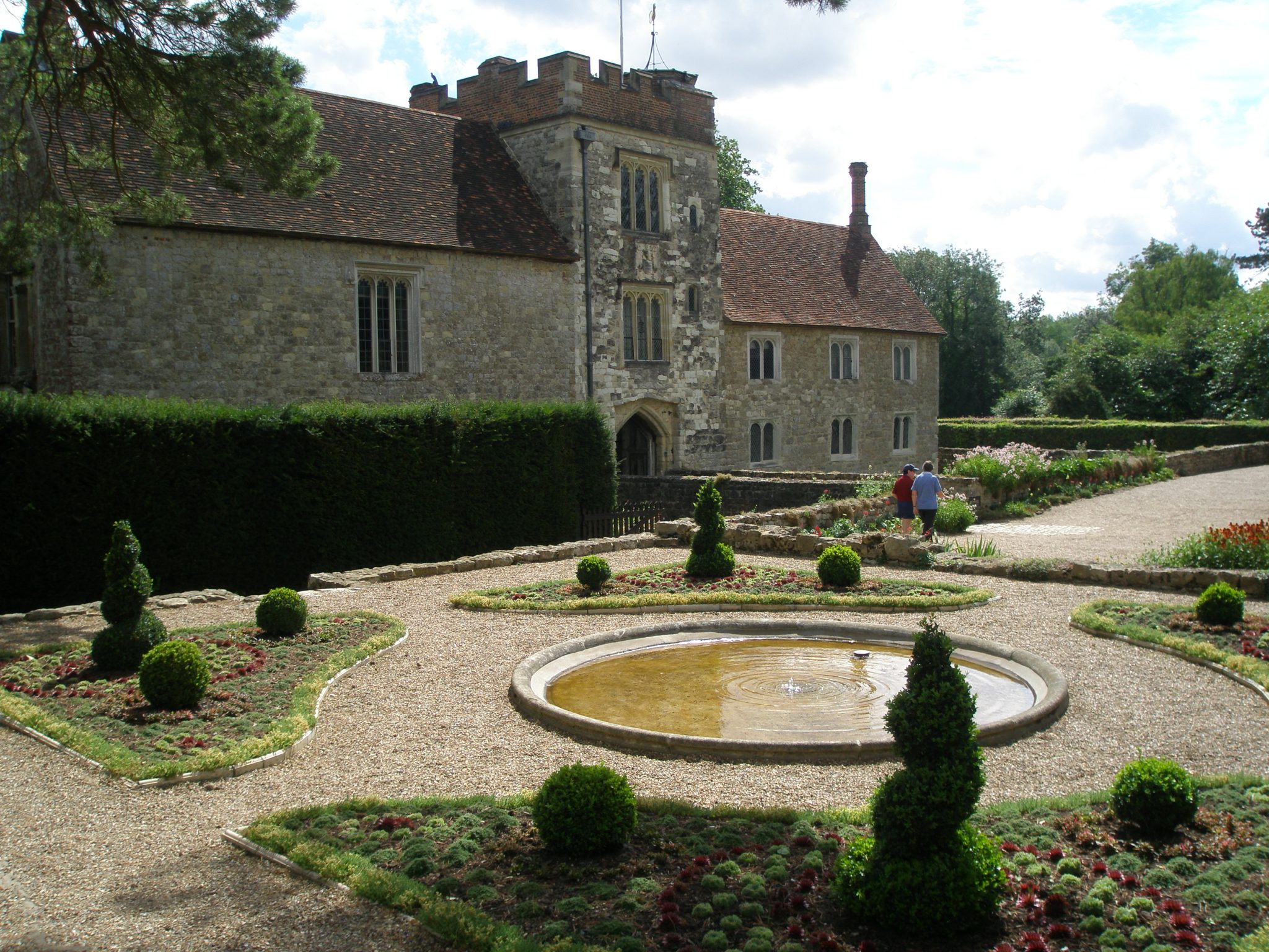 This Formal Garden, by the West Front of the House, leads to the Orchard, and to the Walled Cuttings--or Kitchen--Garden.